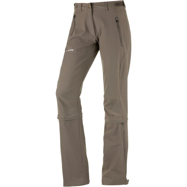 Hosen für Frauen - VAUDE Wanderhose 'Farley Stretch Capri T Zip II' khaki  - Onlineshop ABOUT YOU