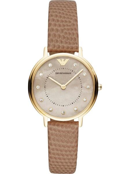Uhren für Frauen - Emporio Armani Damenuhr beige gold perlweiß  - Onlineshop ABOUT YOU