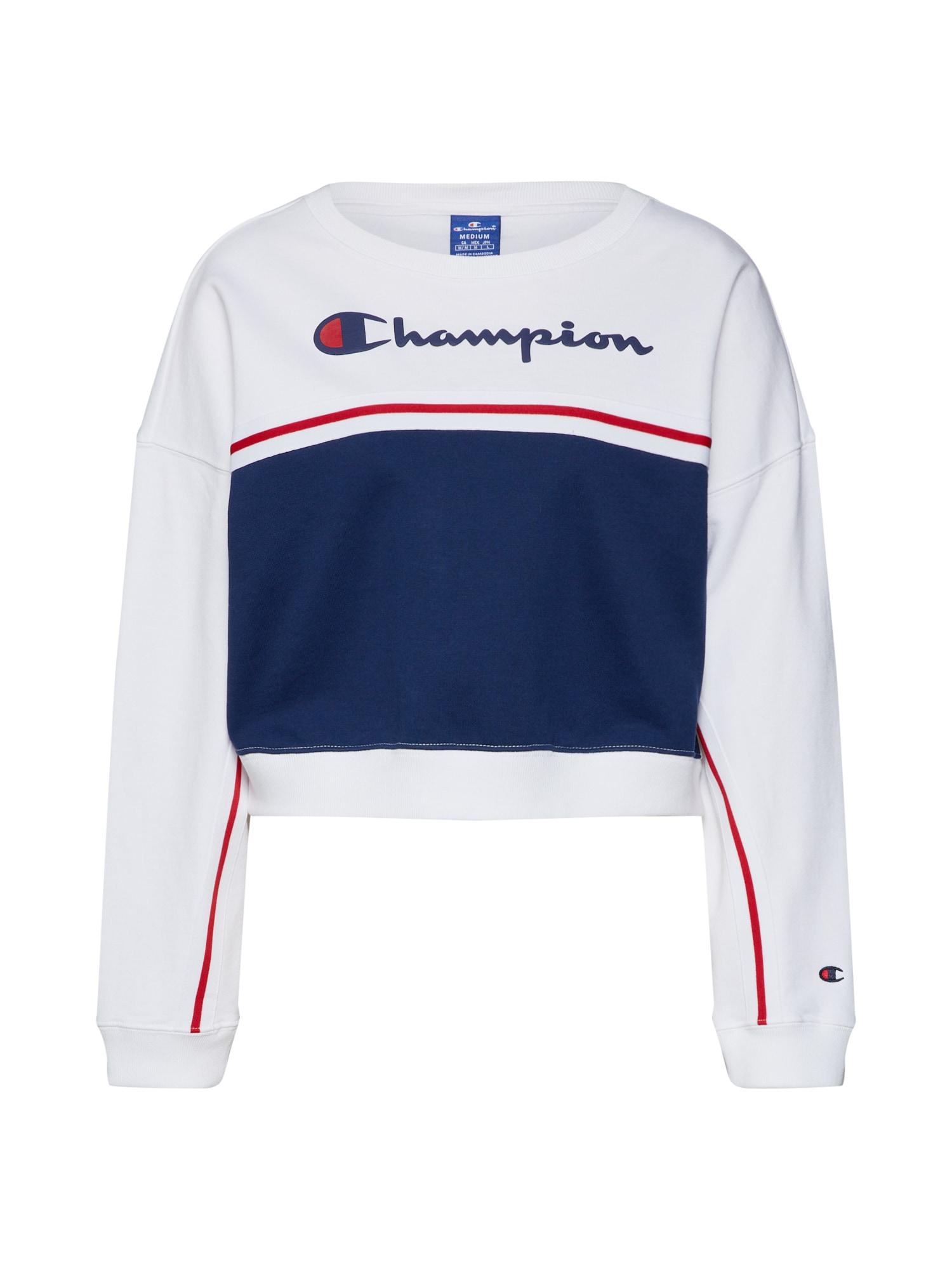 Mikina Rochester Crewneck námořnická modř bílá Champion Authentic Athletic Apparel