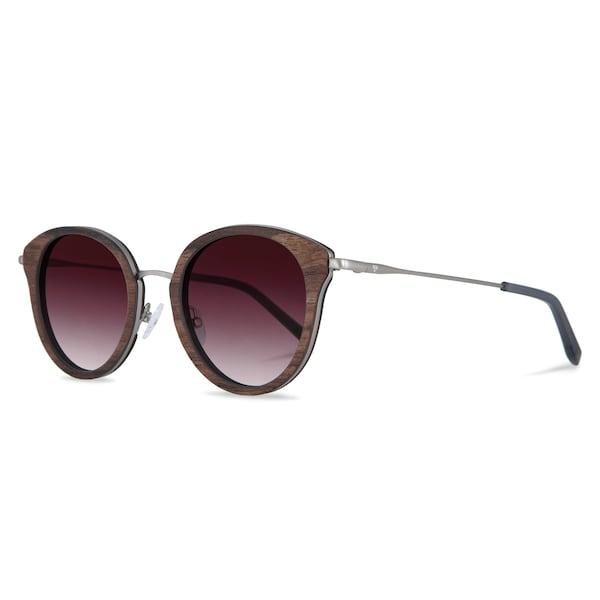 Sonnenbrillen für Frauen - Kerbholz Sonnenbrille 'Wilhelmine' braunmeliert beere silber  - Onlineshop ABOUT YOU