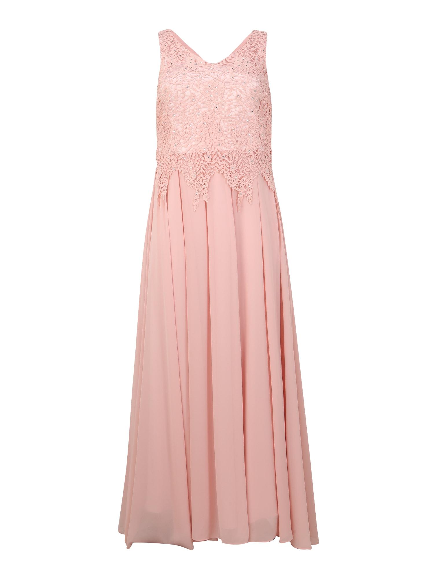 SWING Curve Vakarinė suknelė ryškiai rožinė spalva