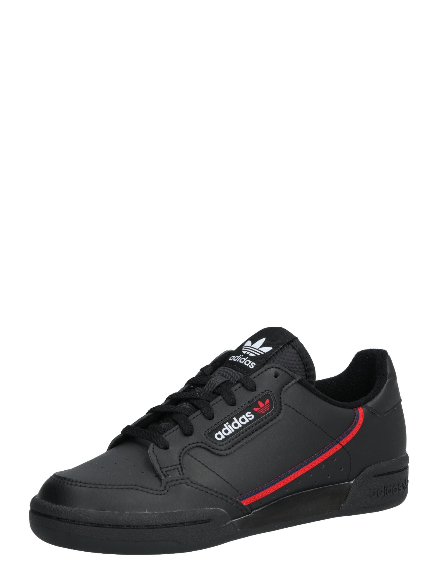 ADIDAS ORIGINALS Sportbačiai 'Continental 80' raudona / juoda
