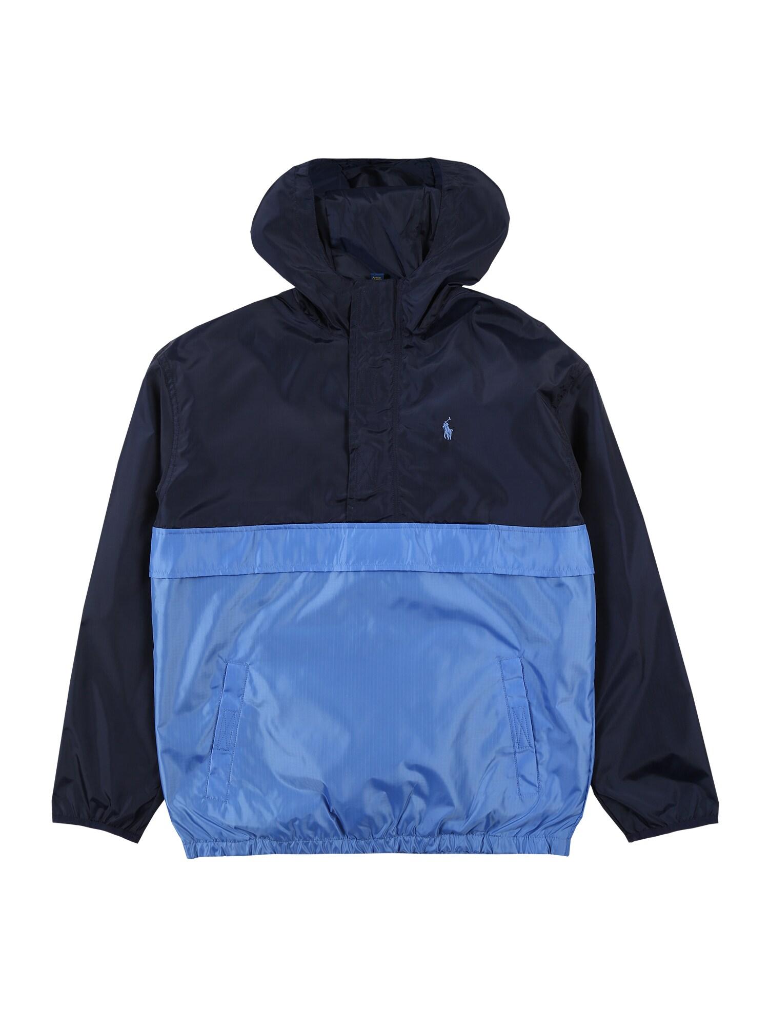 POLO RALPH LAUREN Demisezoninė striukė tamsiai mėlyna / mėlyna dūmų spalva