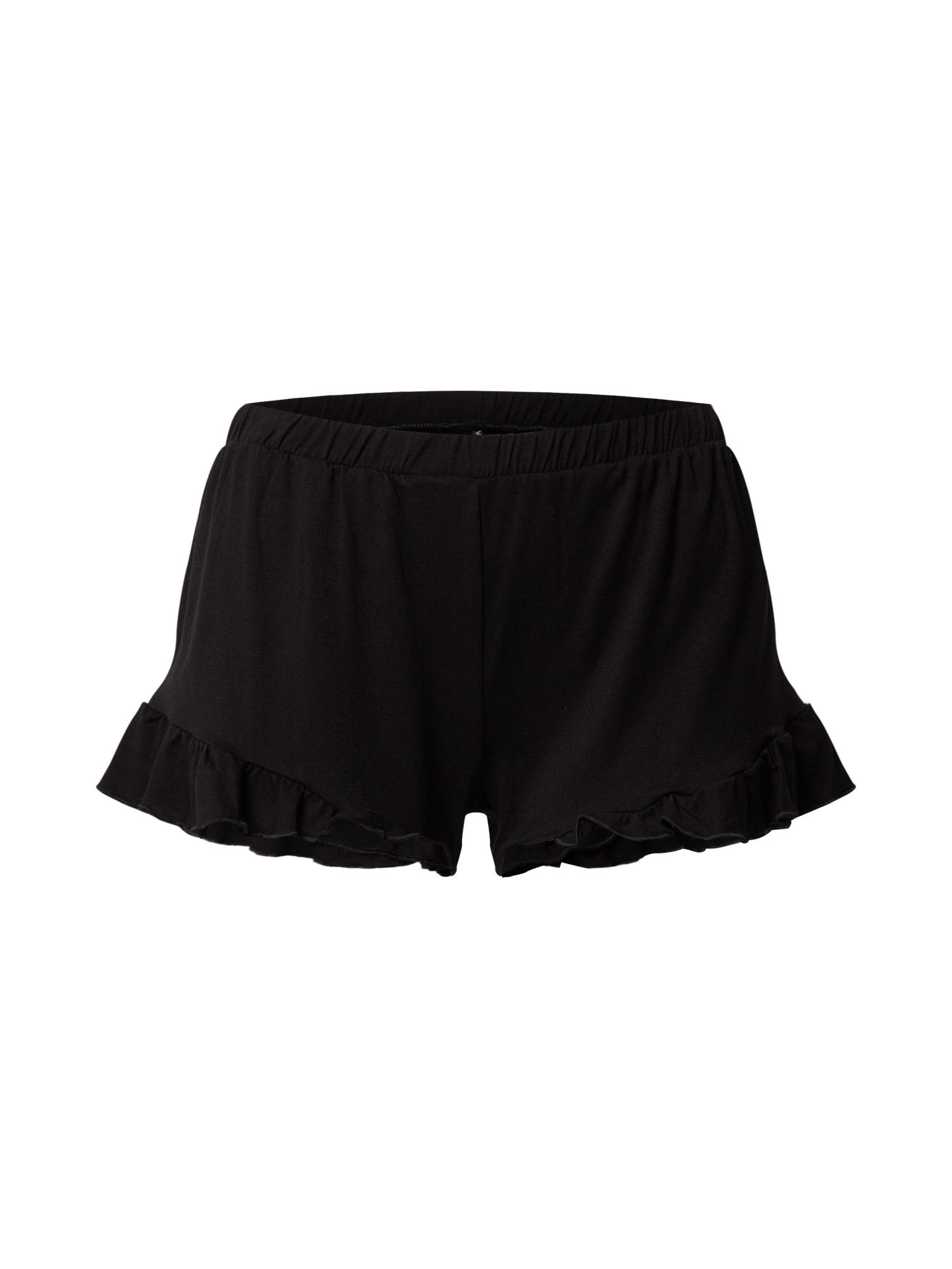 VILA Pižaminės kelnės 'VIRAVI' juoda
