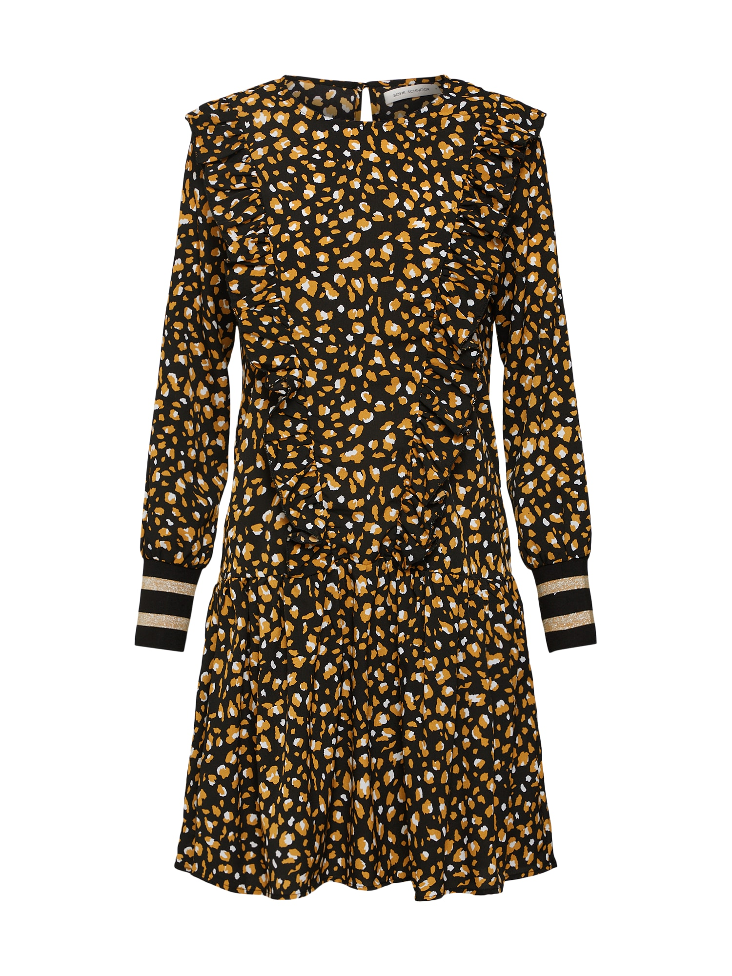 Šaty zlatě žlutá černá Sofie Schnoor