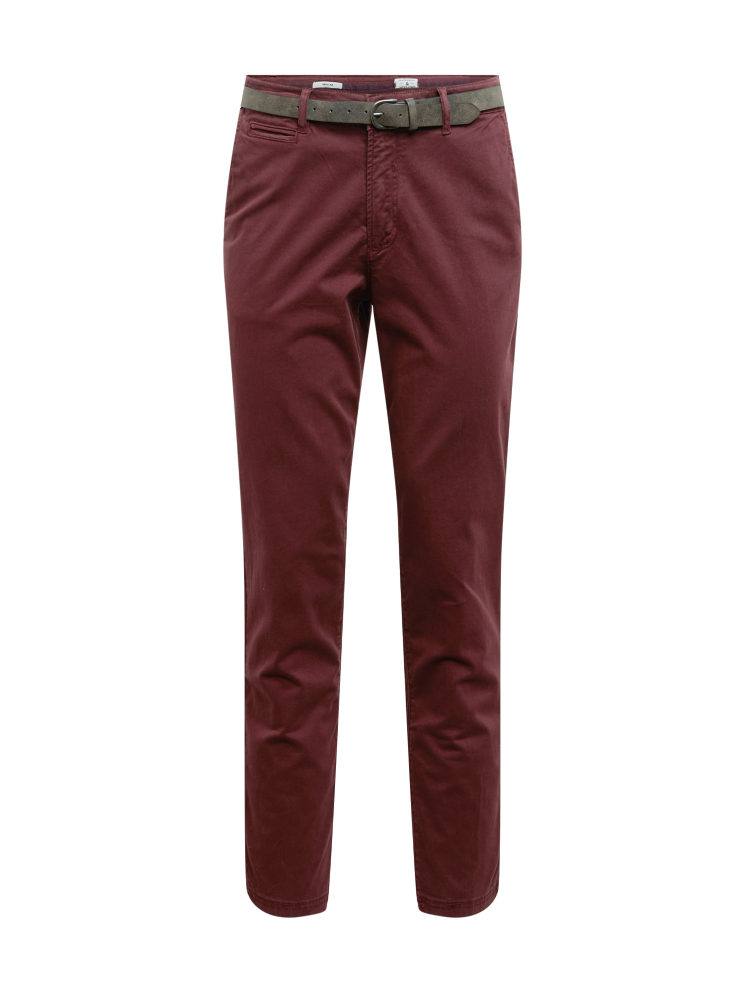 JACK & JONES Chino kalhoty 'ROY JAMES'  bordó