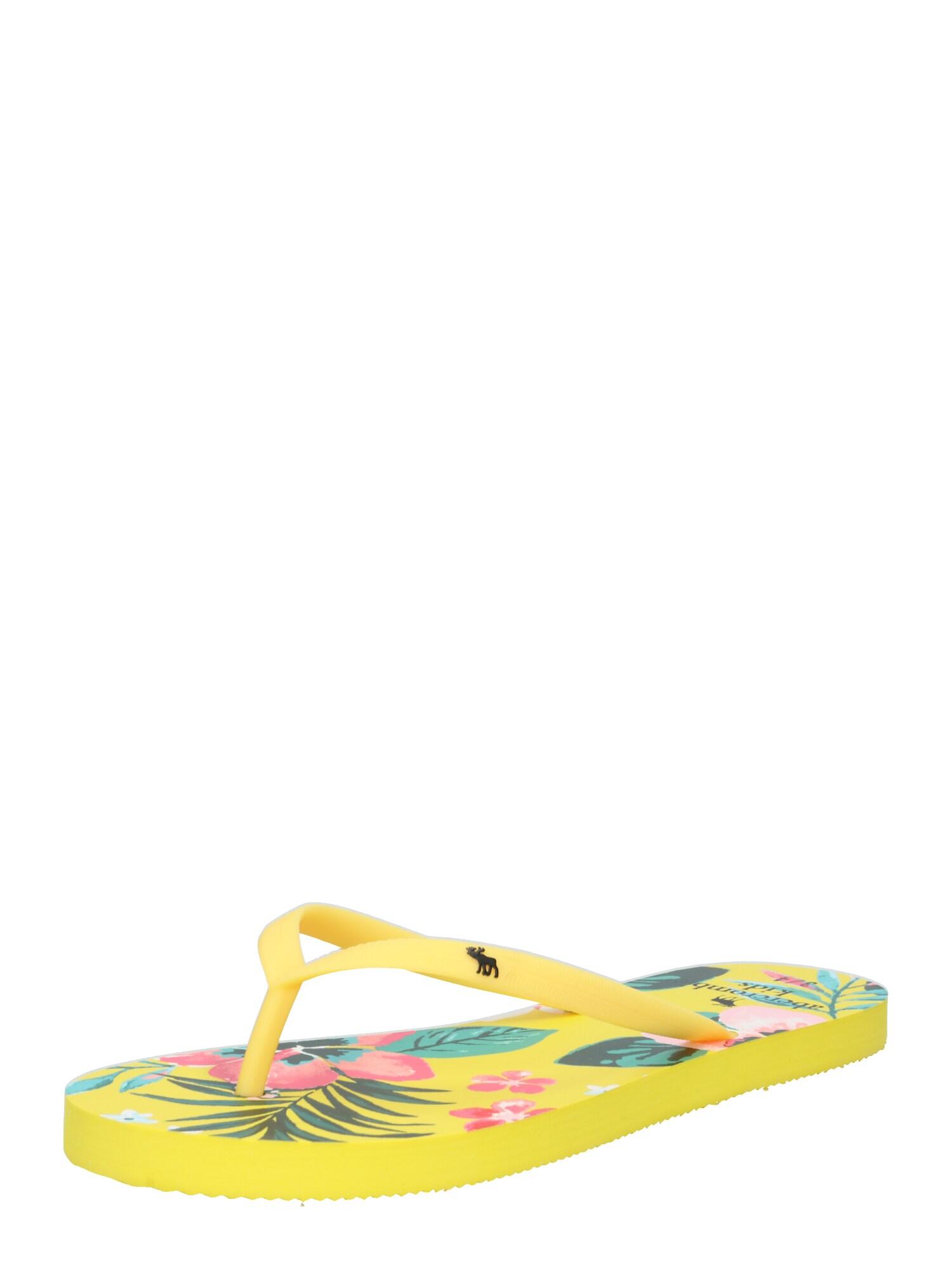 Sandály žlutá mix barev Abercrombie & Fitch