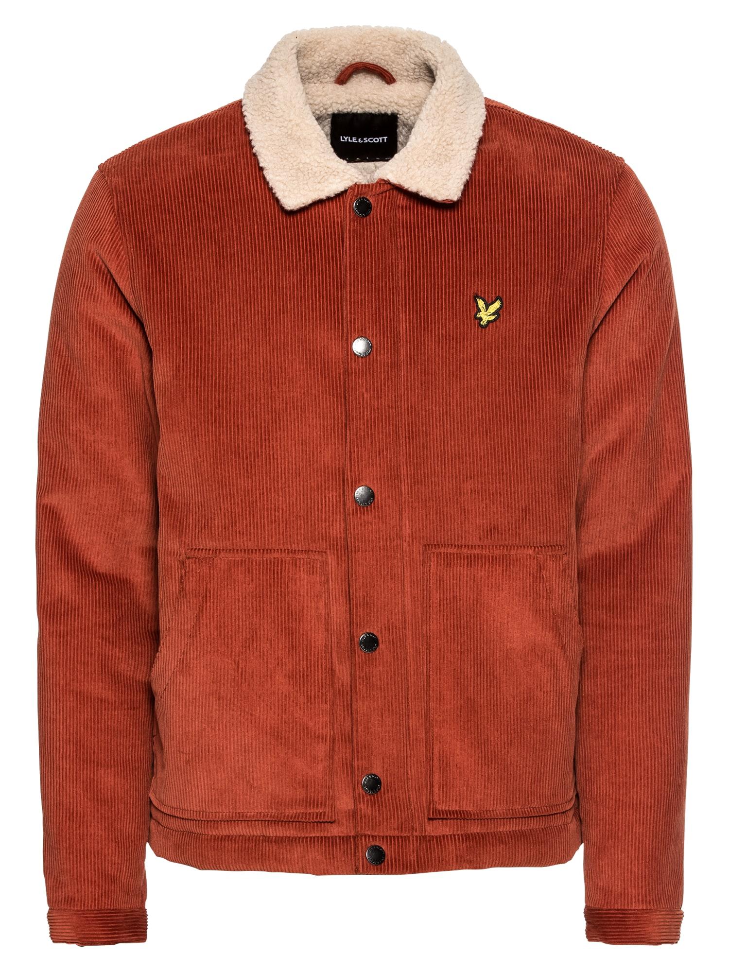 Přechodná bunda Jumbo Cord Shearling Jacket béžová rezavě hnědá Lyle & Scott