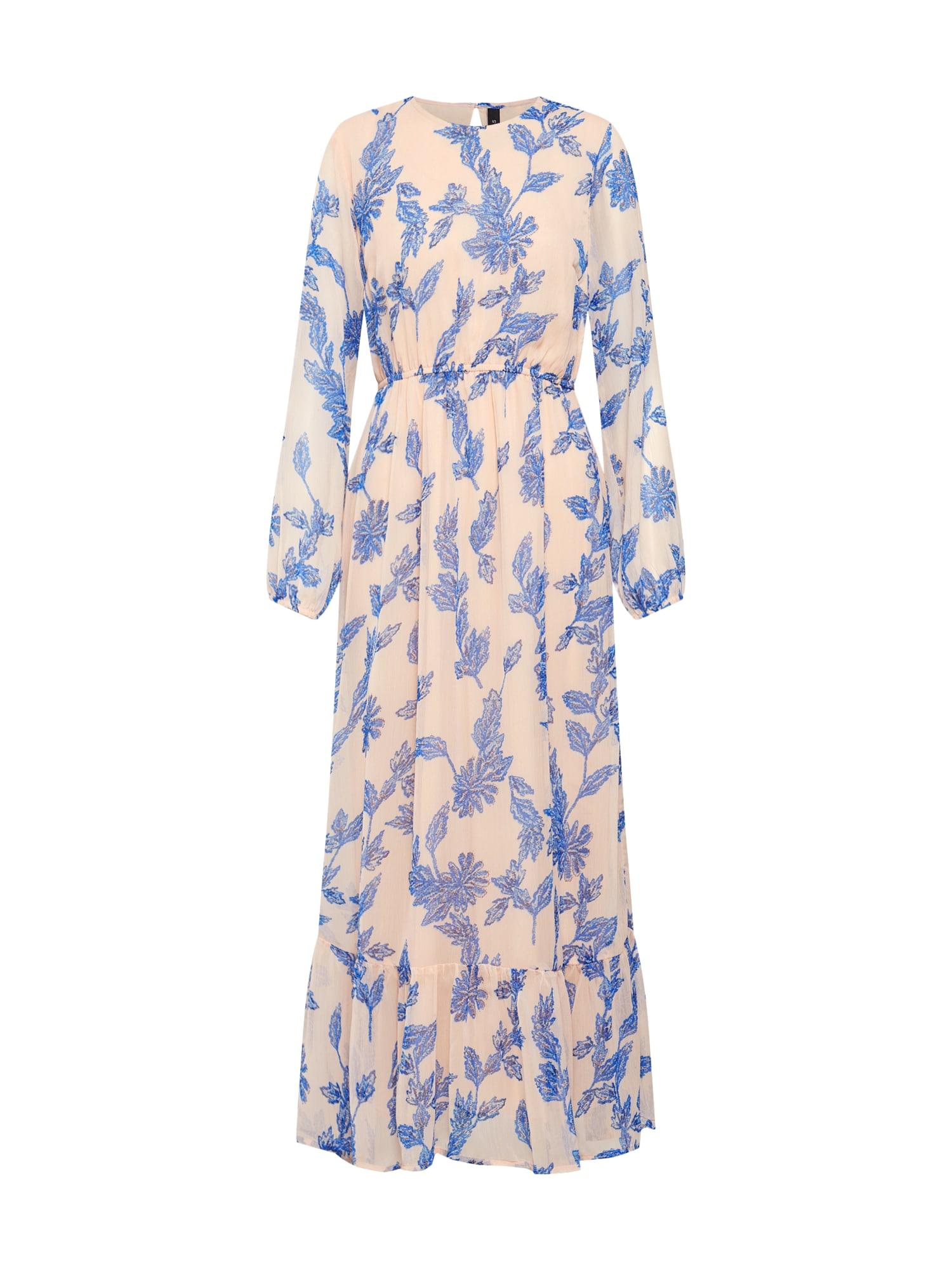 Šaty BEATEA modrá broskvová Y.A.S