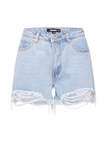 Hosen für Frauen - Missguided Shorts 'EXTREME RIP' hellblau  - Onlineshop ABOUT YOU