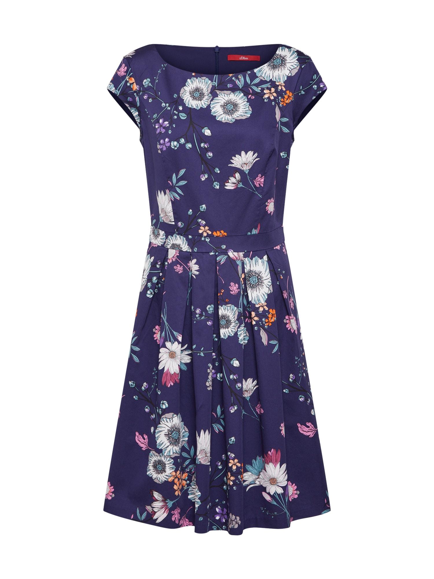 Šaty modrá mix barev S.Oliver RED LABEL