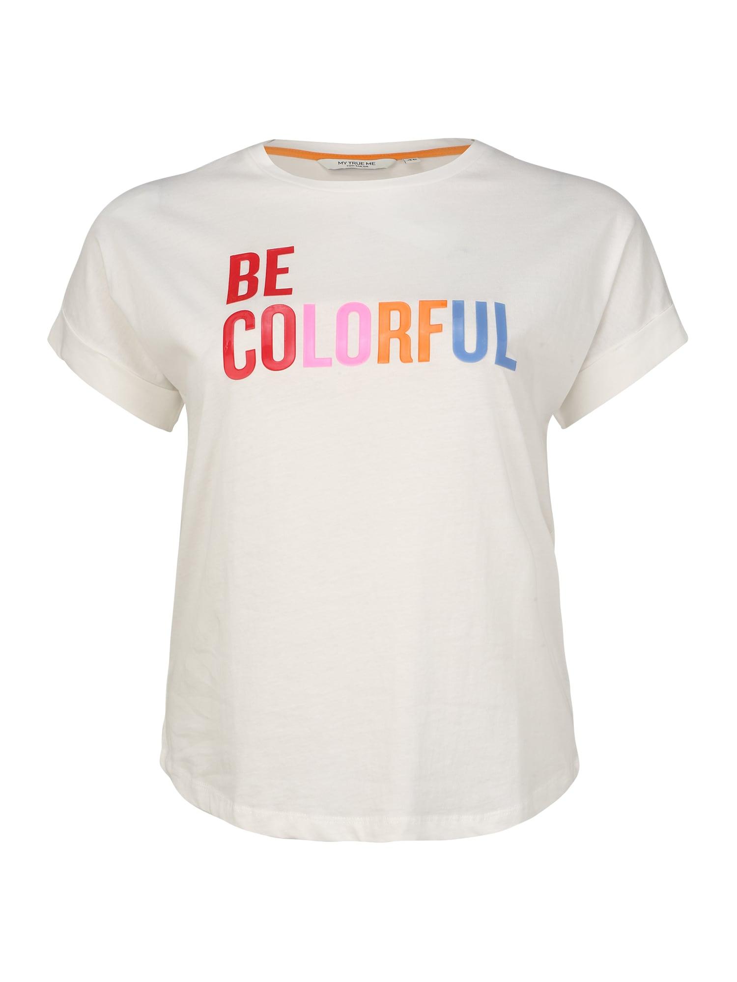 MY TRUE ME Marškinėliai mišrios spalvos / balta