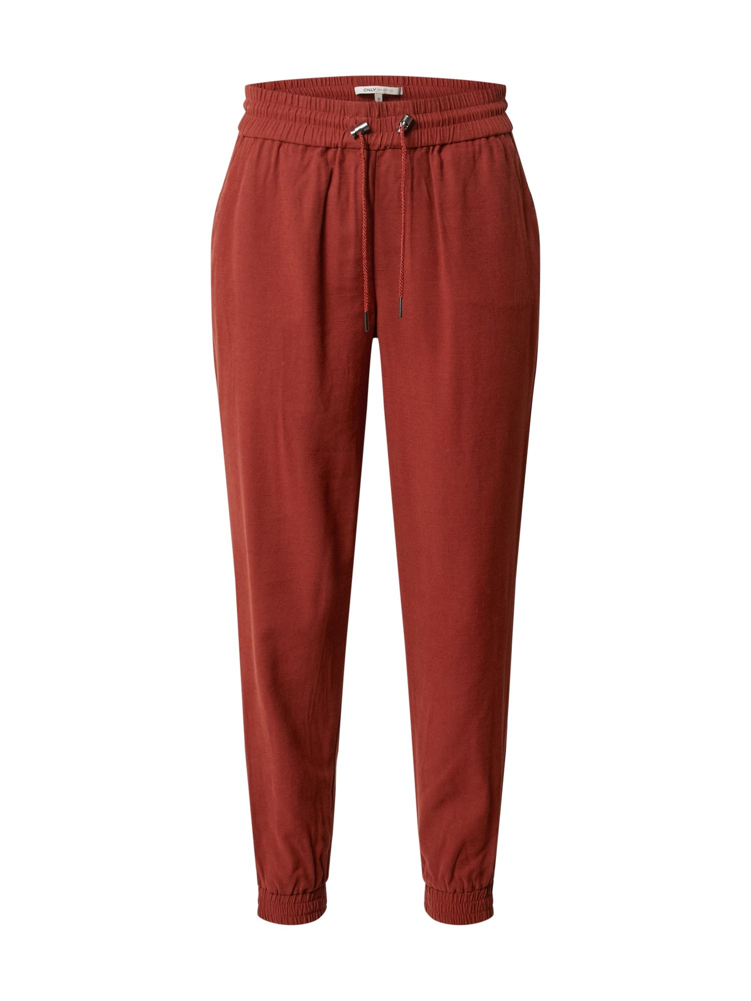 ONLY Plisované nohavice 'Kelda-Emery'  hnedé
