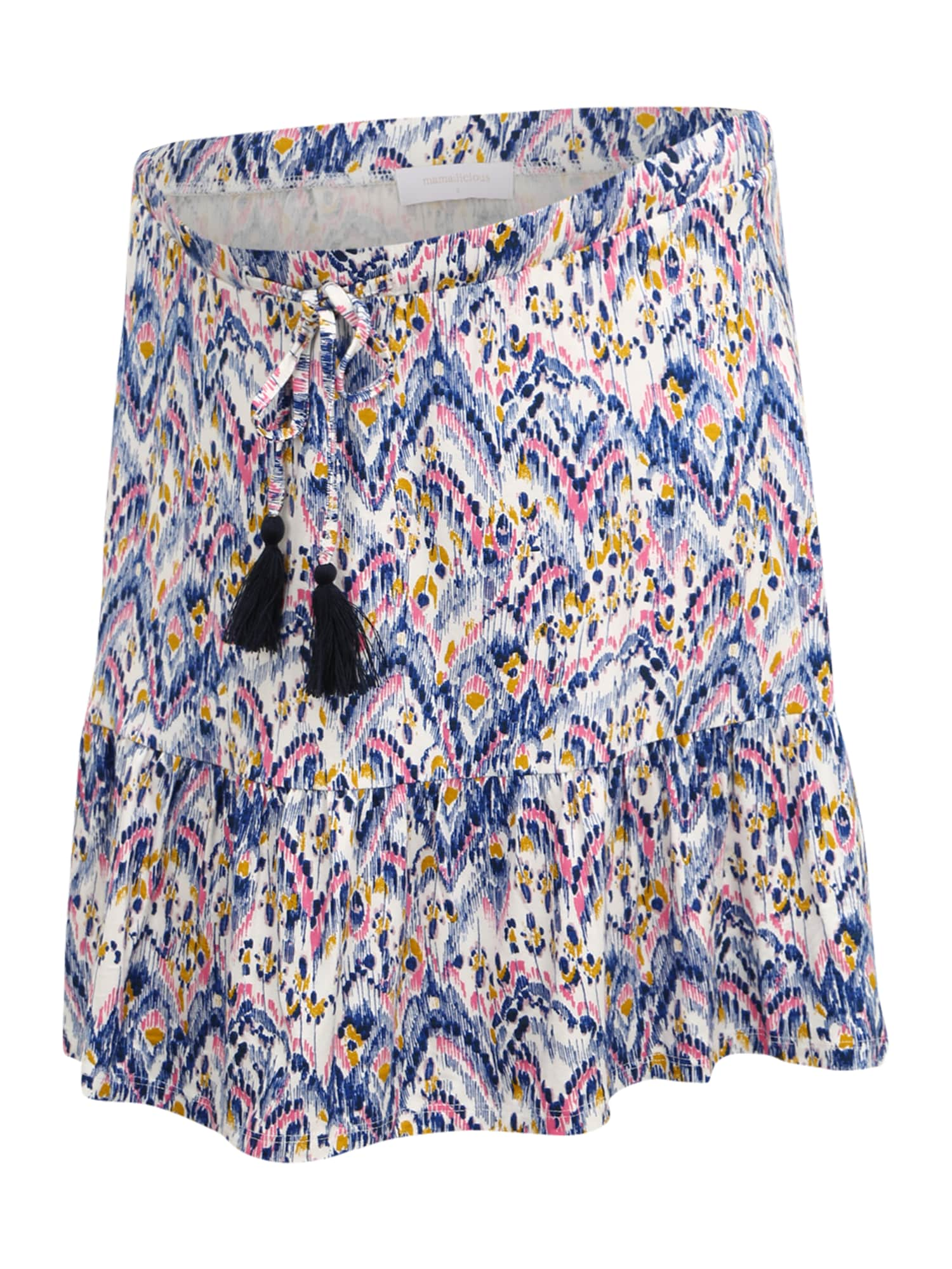 MAMALICIOUS Sukňa 'Agnes'  biela / zmiešané farby