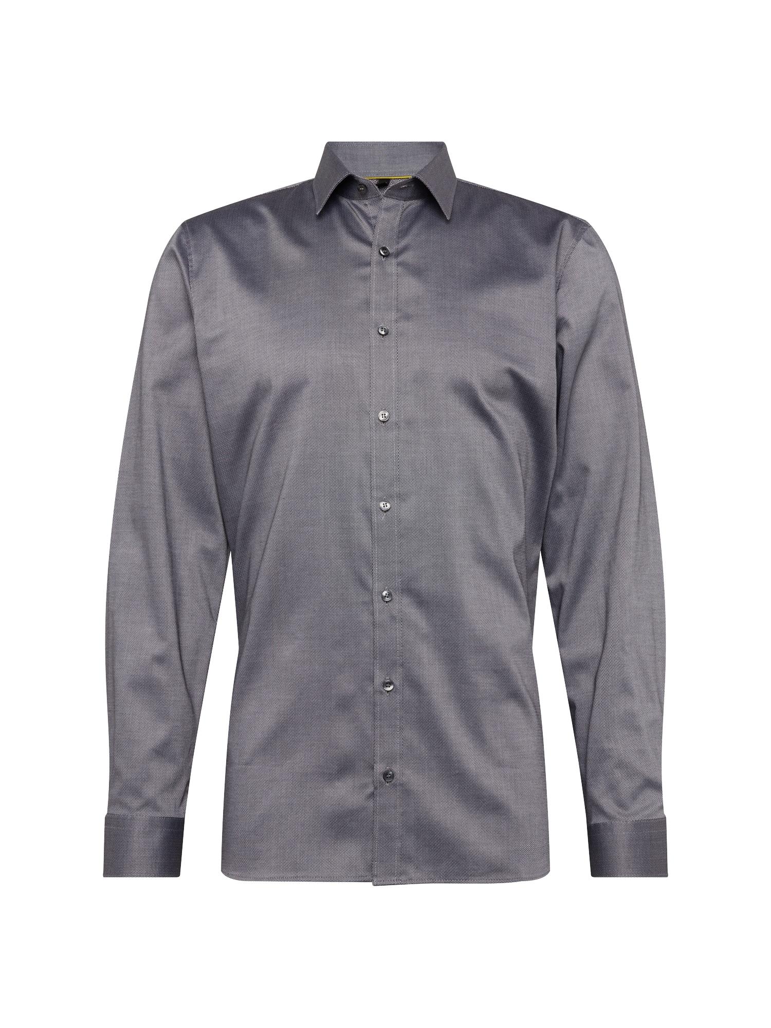 Košile antracitová bílá OLYMP