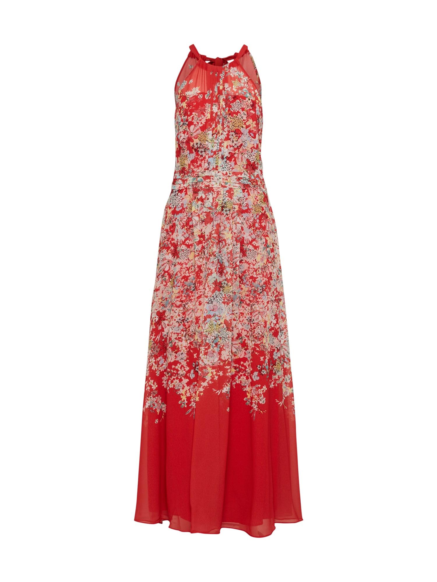 Letní šaty mix barev červená COMMA