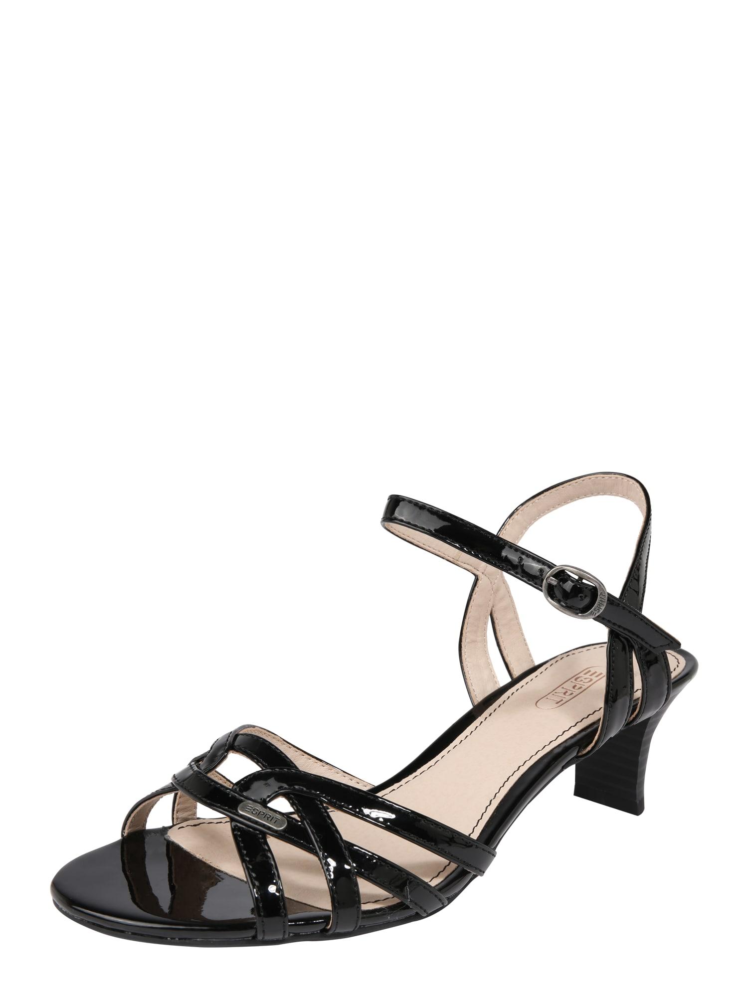 Páskové sandály Birkin černá ESPRIT