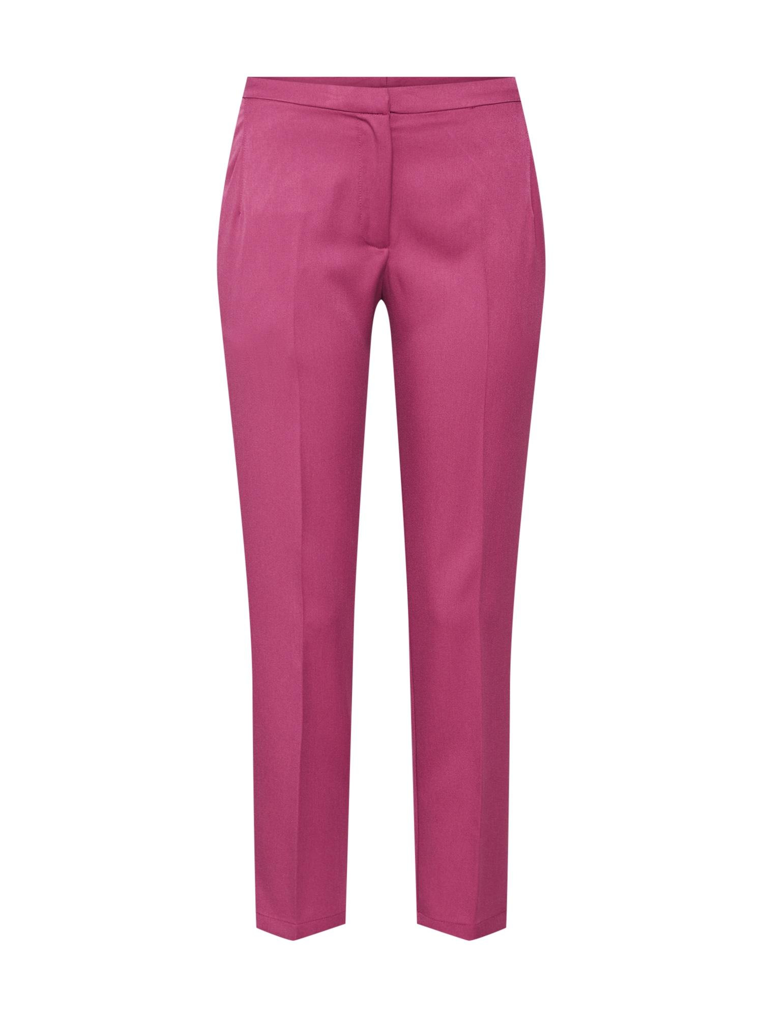 Kalhoty se sklady v pase Halle růžová Minimum