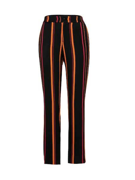 Hosen für Frauen - BOSS Hose mit Streifen 'Slaunetta' orange schwarz  - Onlineshop ABOUT YOU