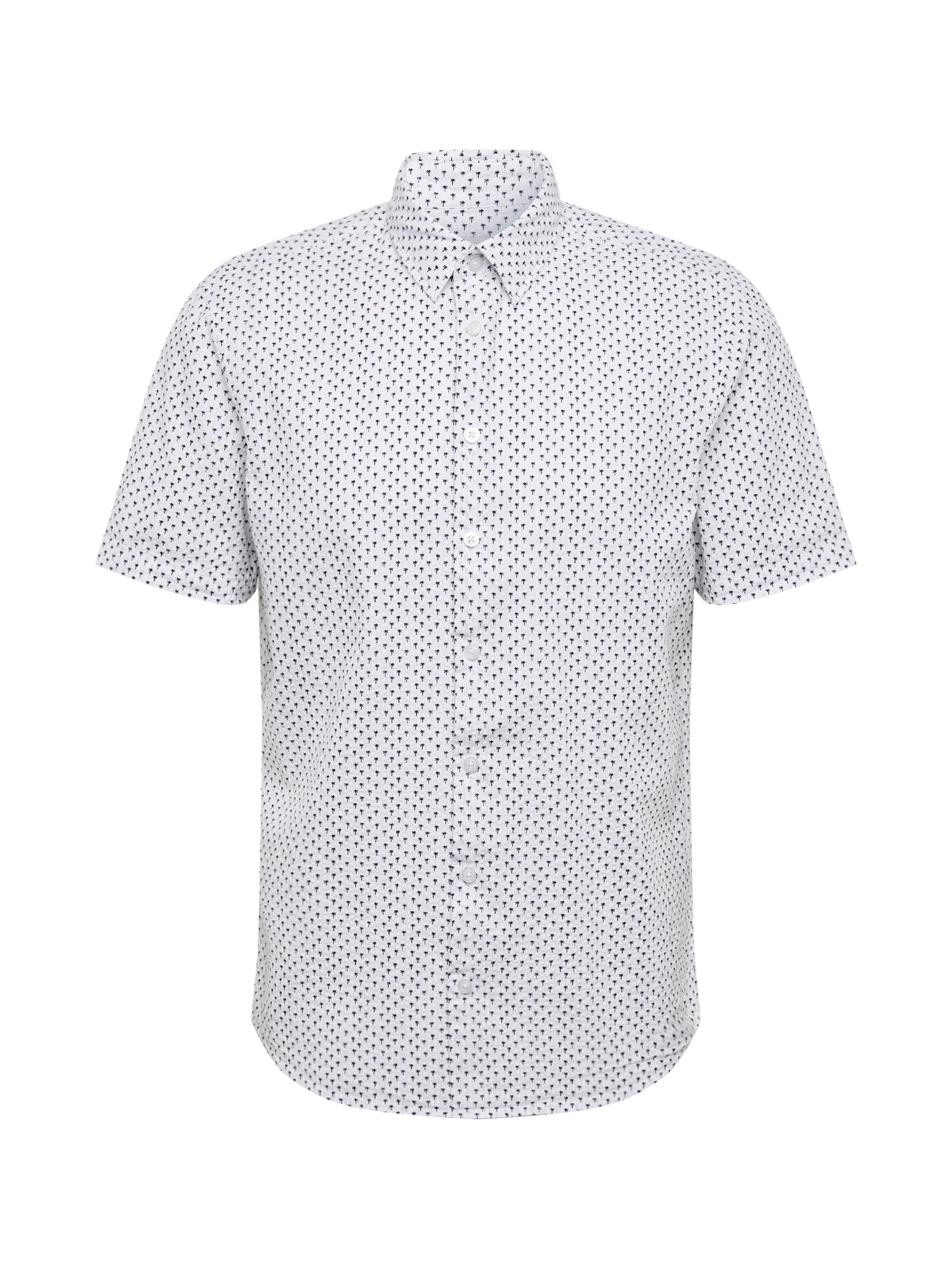 Casual Friday Marškiniai juoda / balta
