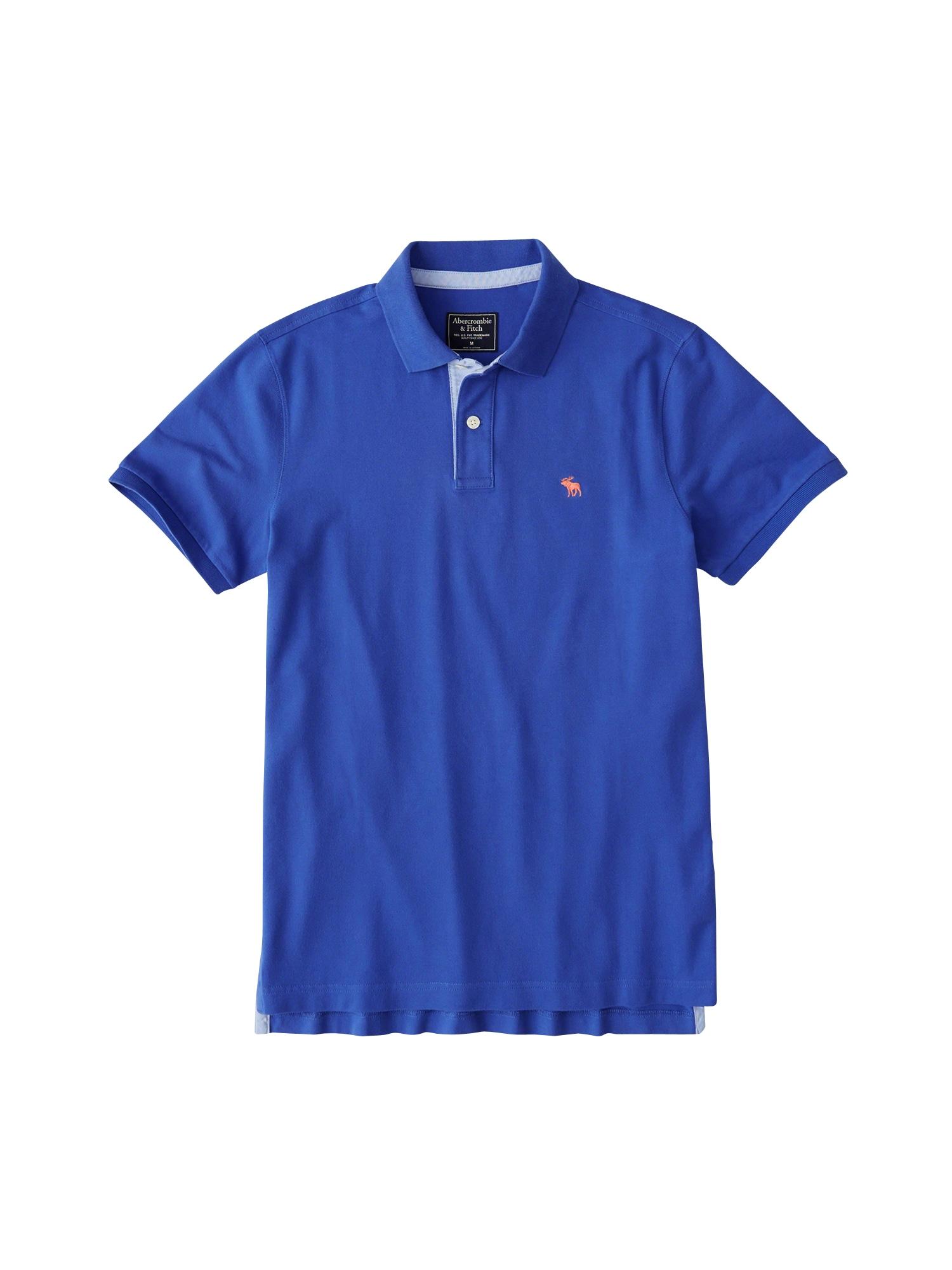 Tričko CORE POLO T5 modrá Abercrombie & Fitch