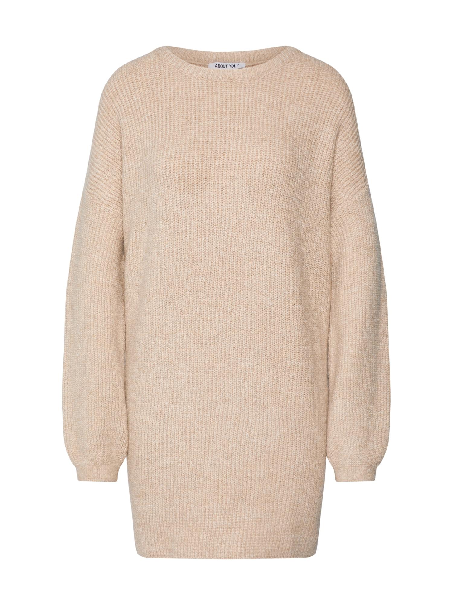 ABOUT YOU Laisvas megztinis 'Mina' smėlio