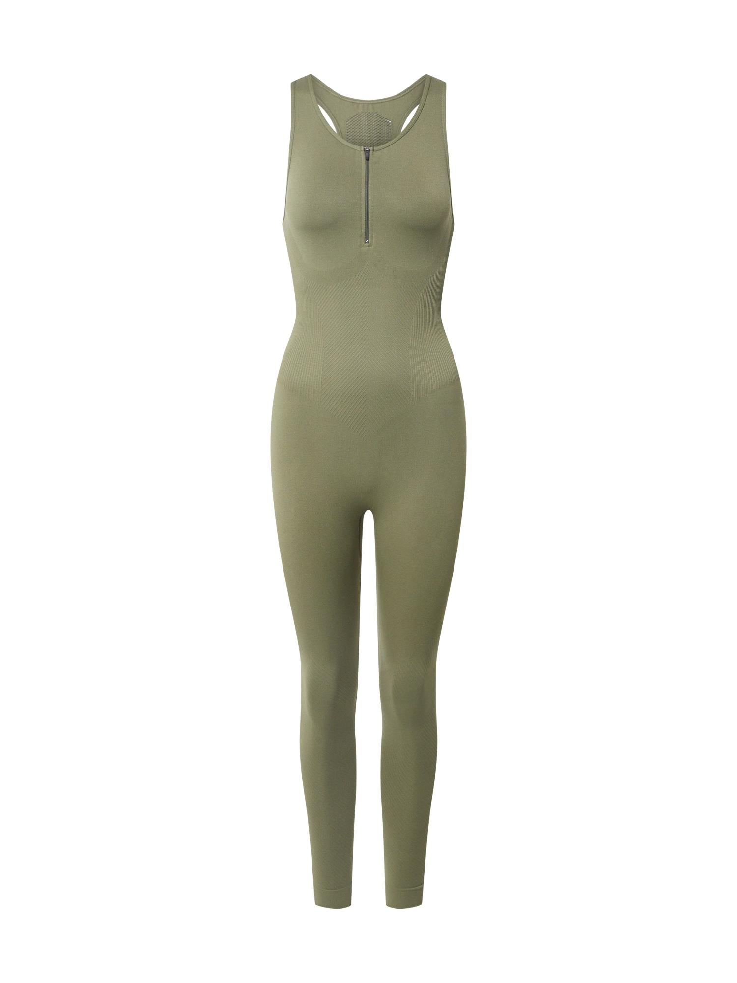 NU-IN ACTIVE Sportinis kostiumas 'Bodysuit' alyvuogių spalva