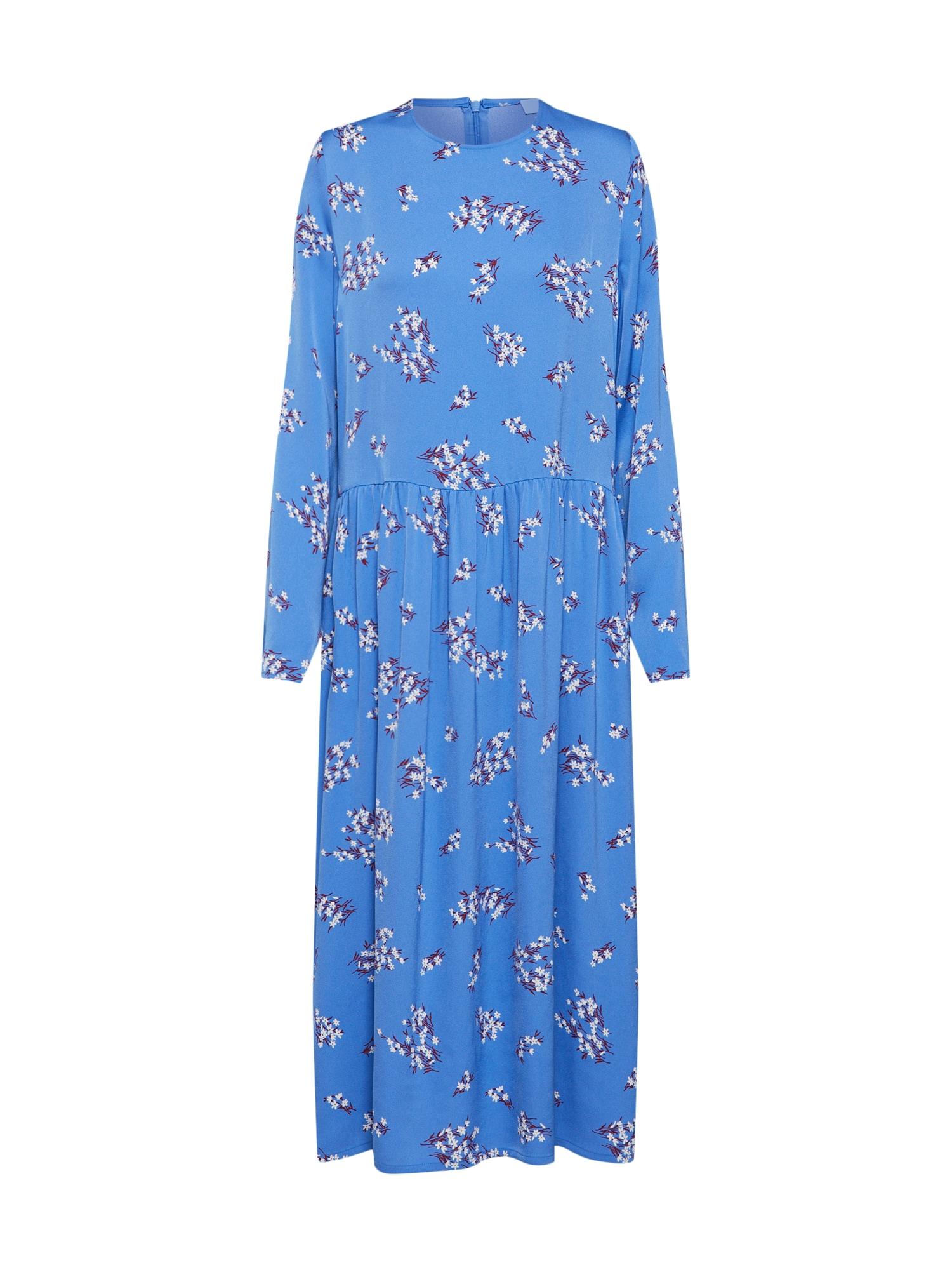 Šaty RAMA DRESS AOP modrá Samsoe & Samsoe