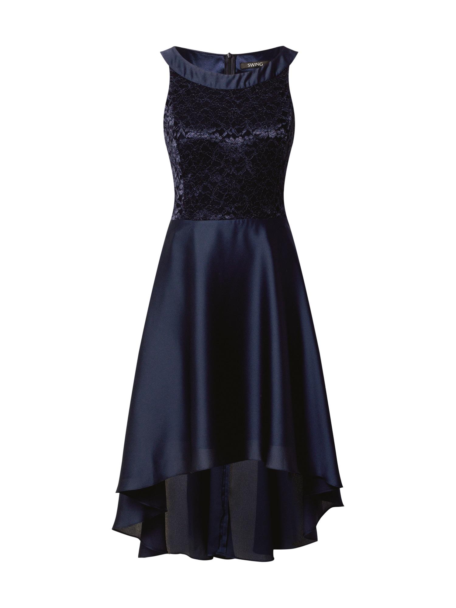 SWING Kokteilinė suknelė nakties mėlyna