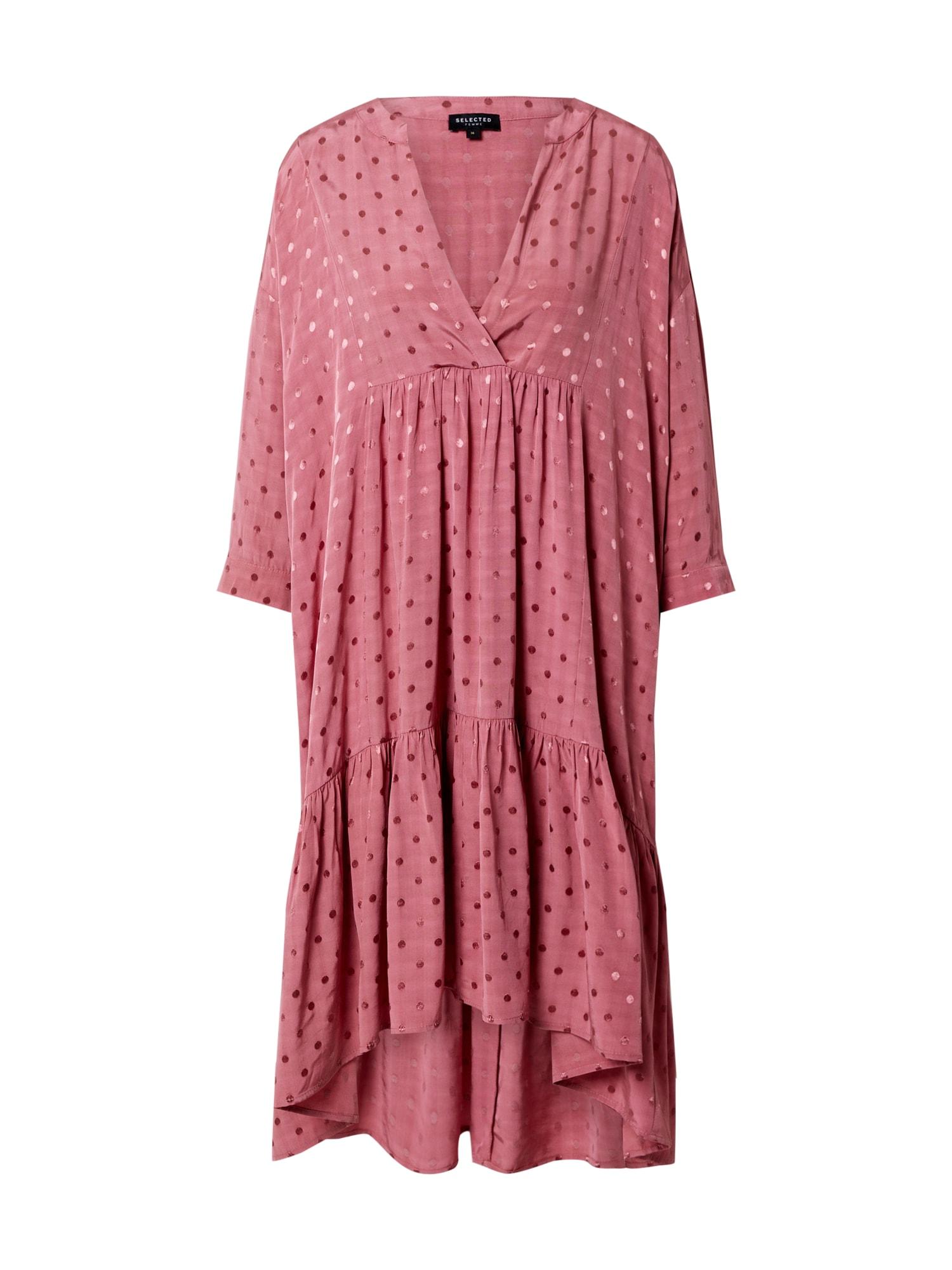 SELECTED FEMME Košeľové šaty 'SLFMAYA'  rosé / ružová