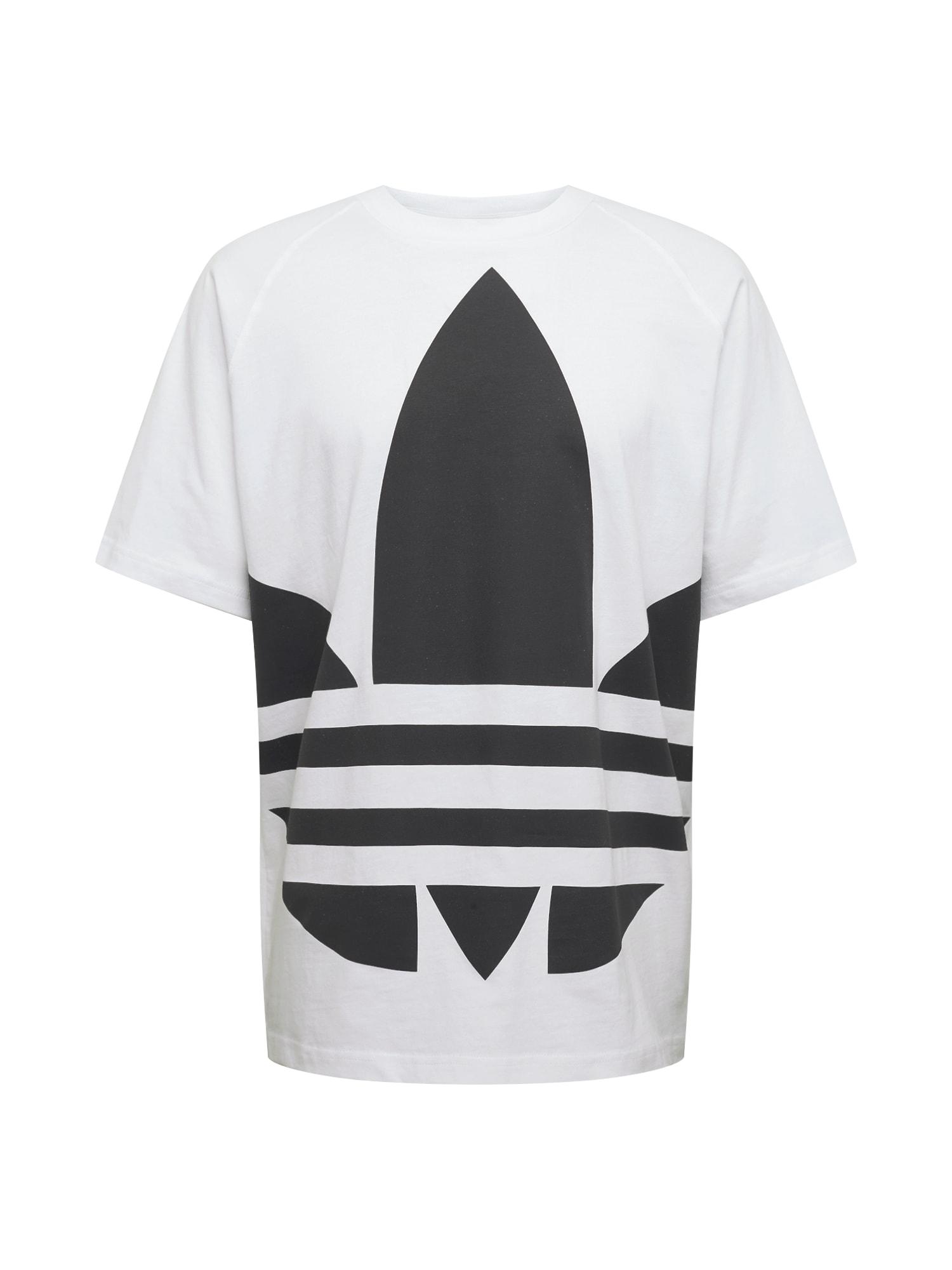 ADIDAS ORIGINALS Marškinėliai 'BG TREFOIL TEE' balta / juoda