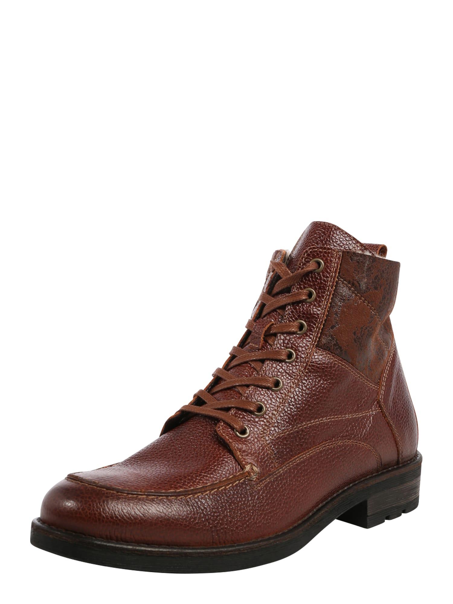 Ca Shott Auliniai batai su raišteliais ruda
