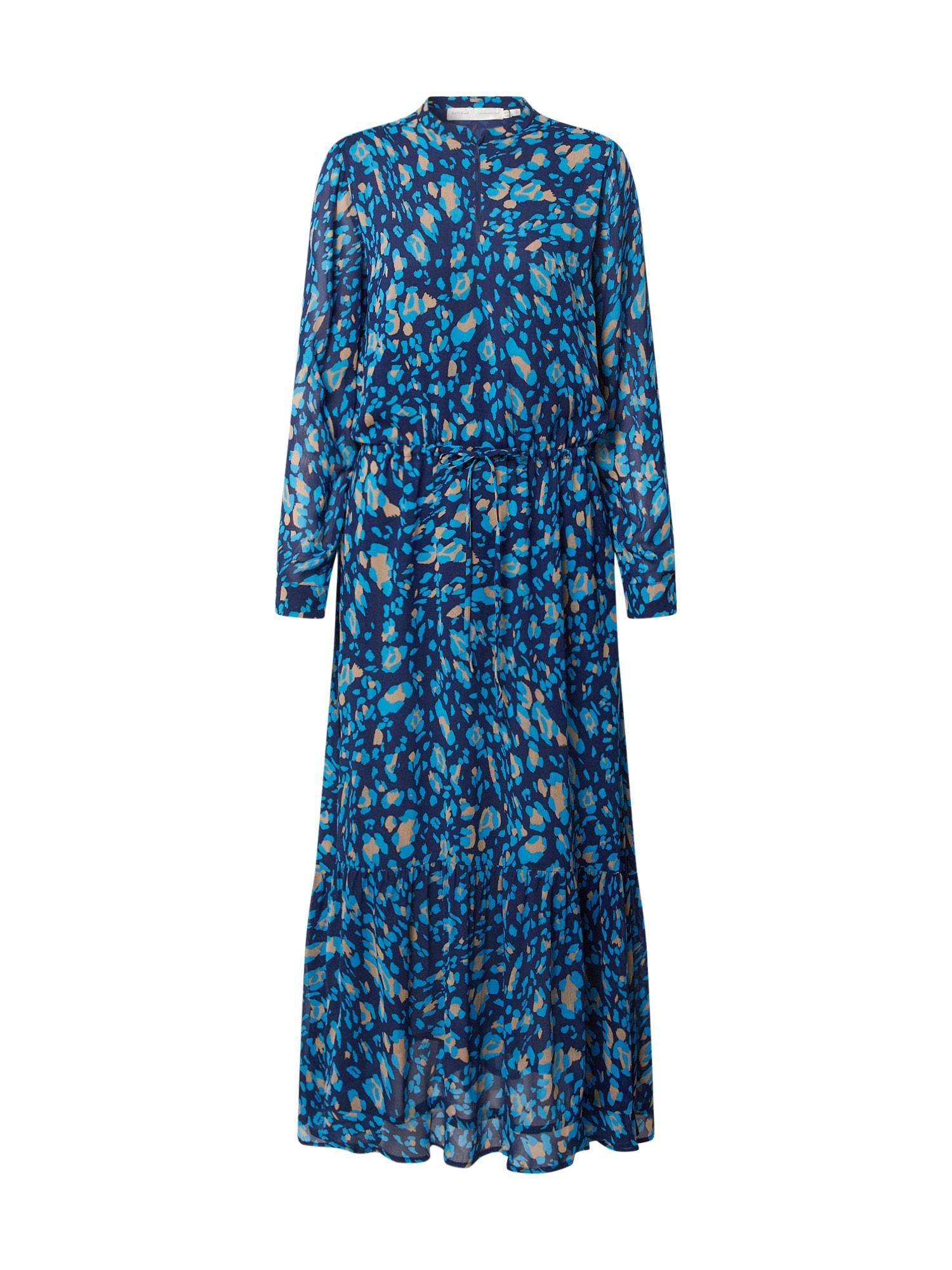 InWear Košeľové šaty 'ClariceI'  béžová / modré / svetlomodrá
