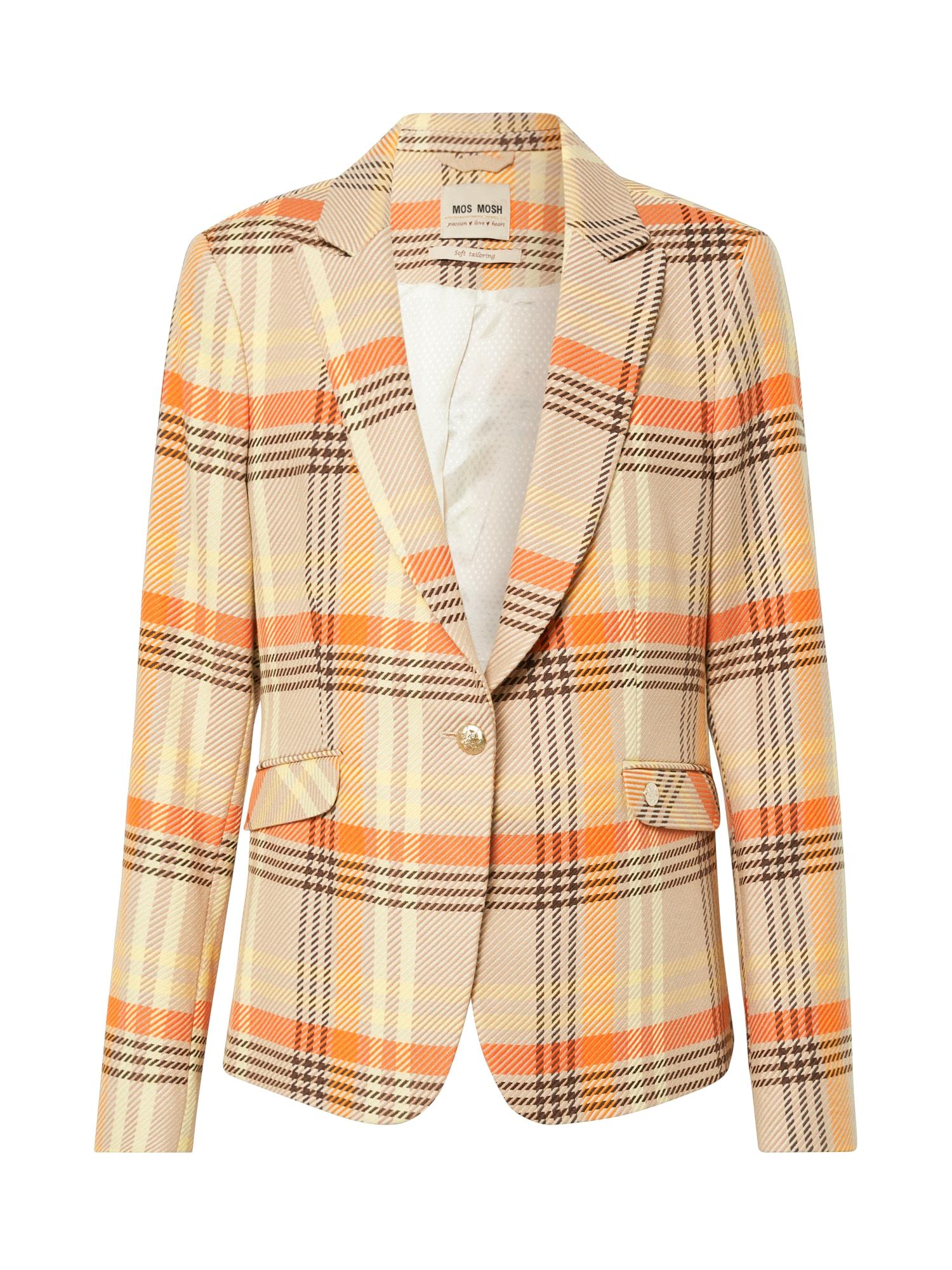 MOS MOSH Blazer švarkas oranžinė / smėlio / geltona