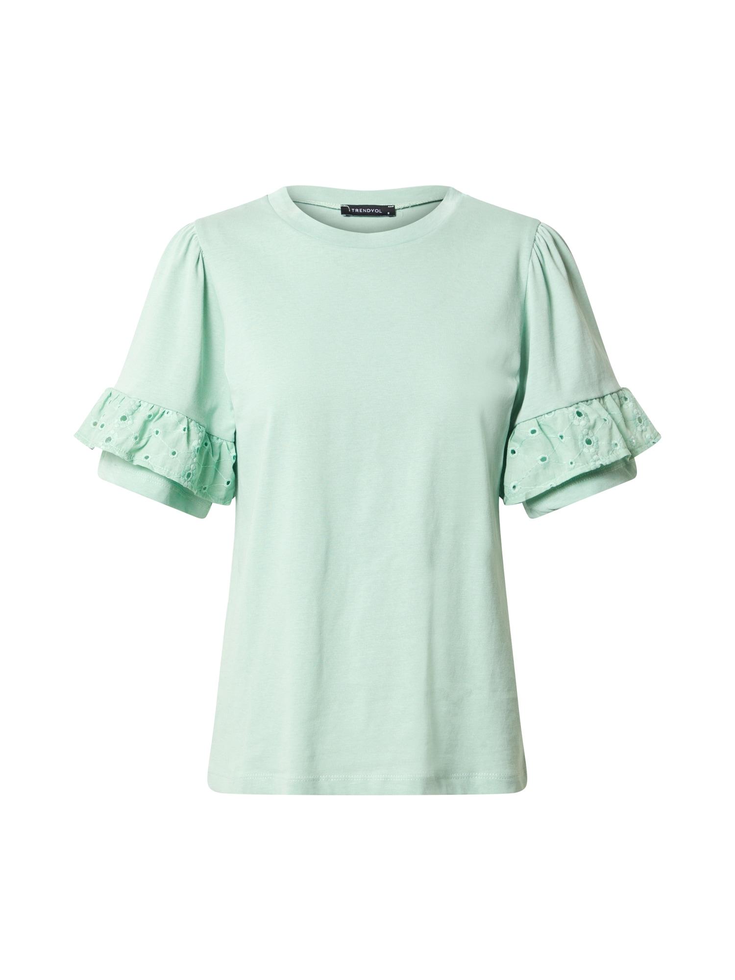 Trendyol Marškinėliai mėtų spalva