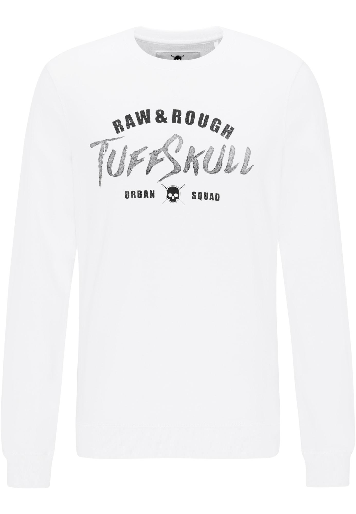 TUFFSKULL Megztinis be užsegimo juoda / pilka / balta