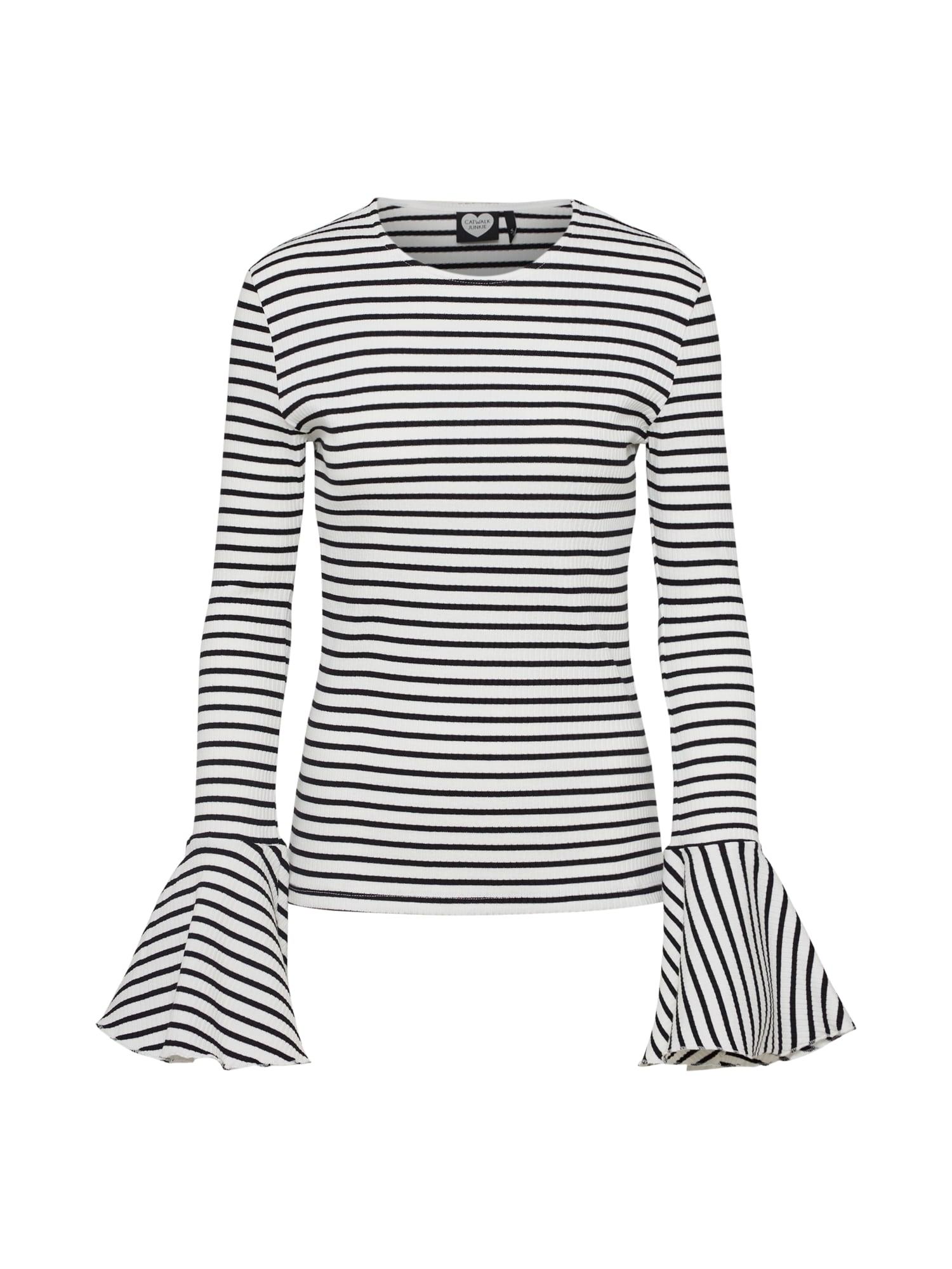 Tričko černá bílá CATWALK JUNKIE