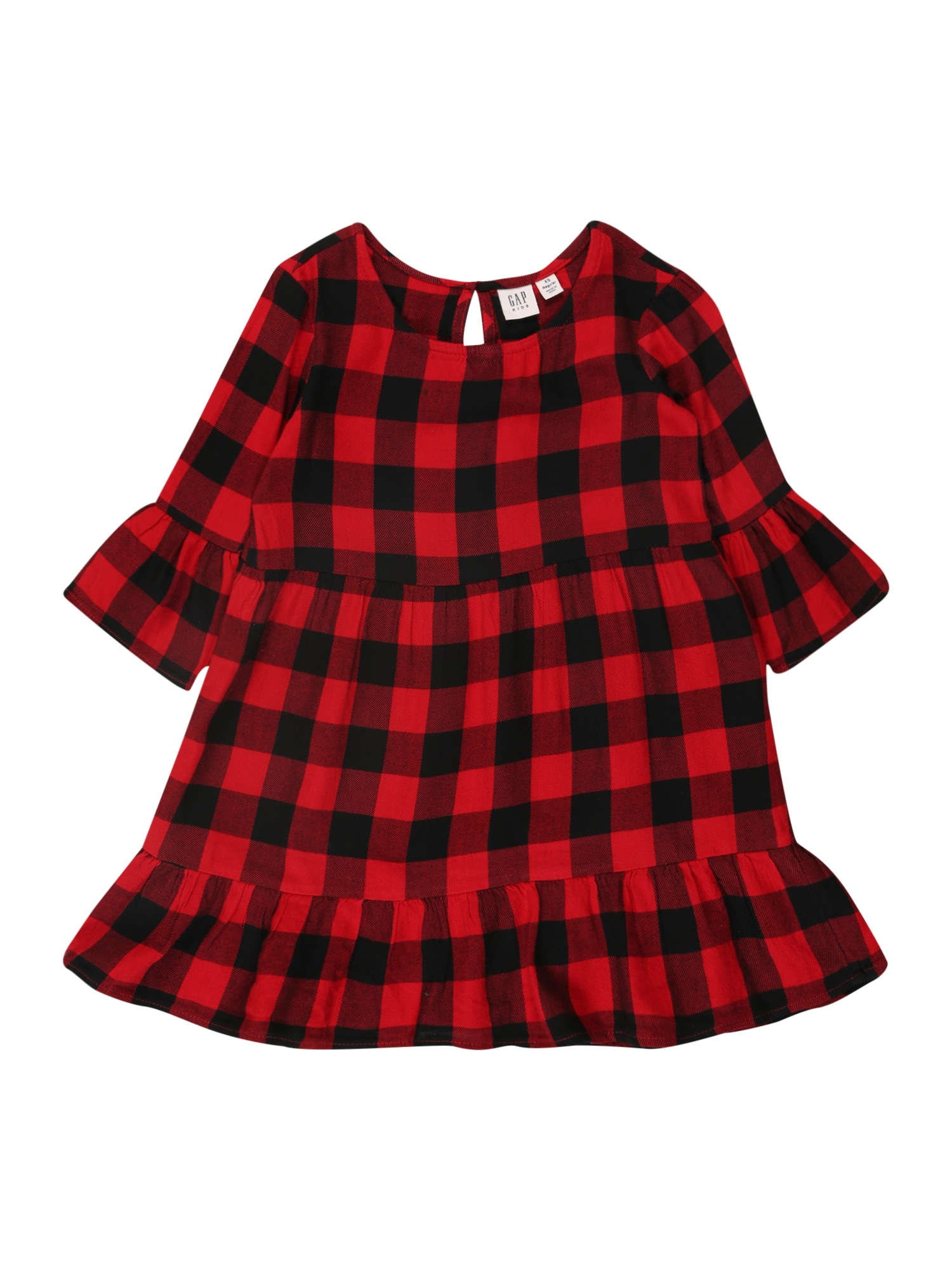 GAP Suknelė 'PEPLM' juoda / raudona