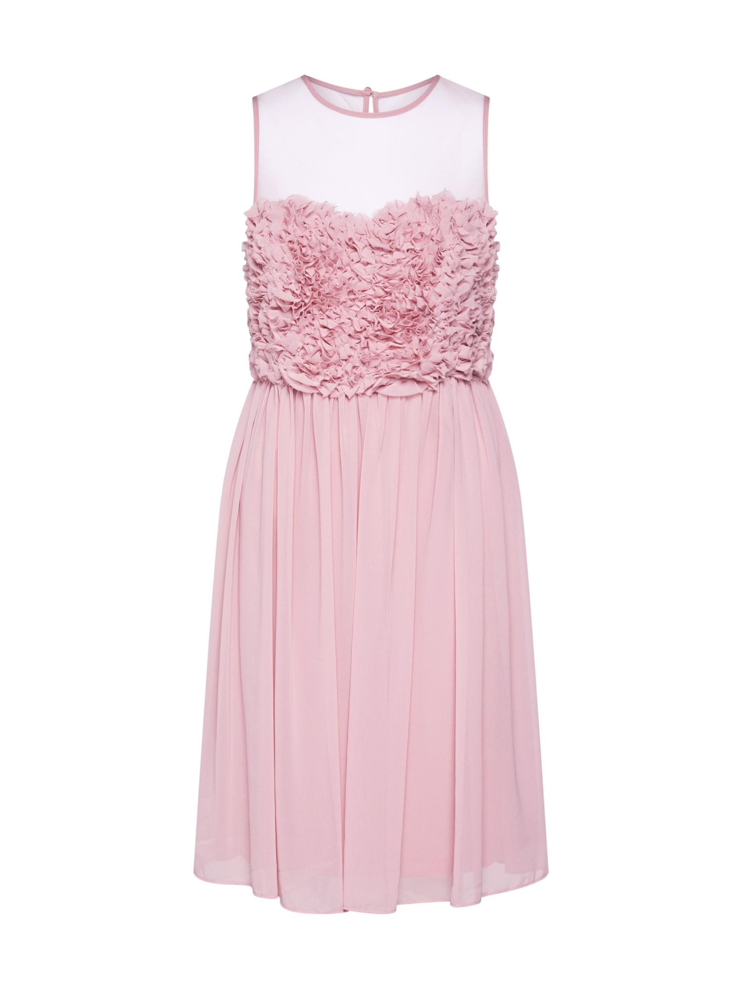 APART Kokteilinė suknelė pudros spalva