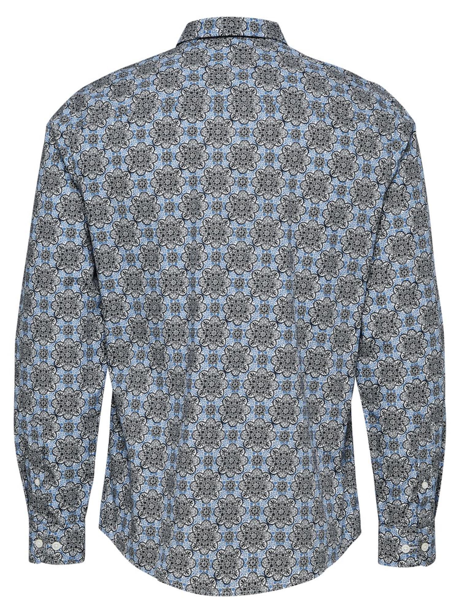 Heren Overhemd Blauw.Selected Homme Heren Overhemd Blauw Gemeleerd Grijs Shop Via