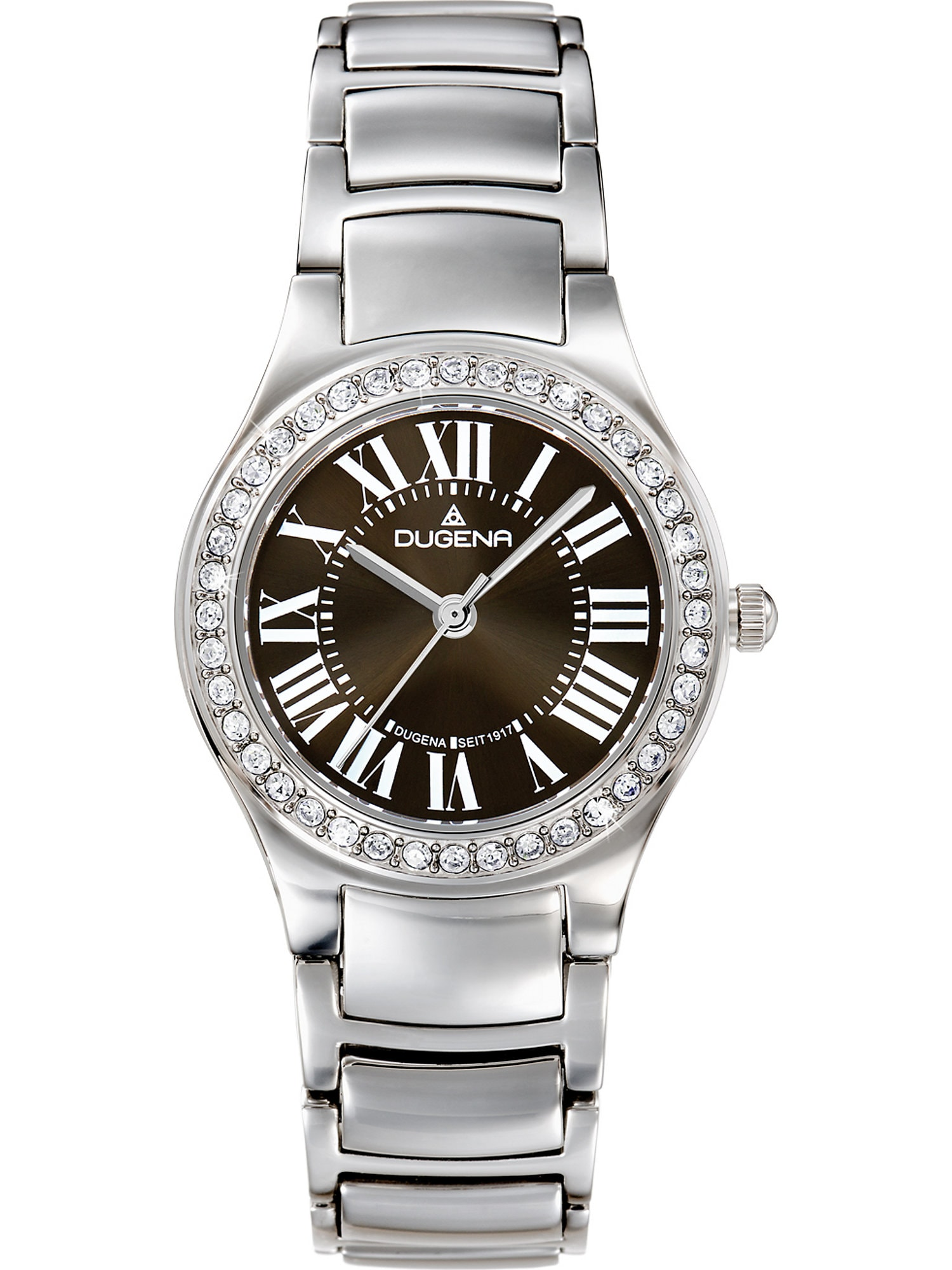 Damen DUGENA Uhr grau,  rot,  weiß, silber | 04250645007407