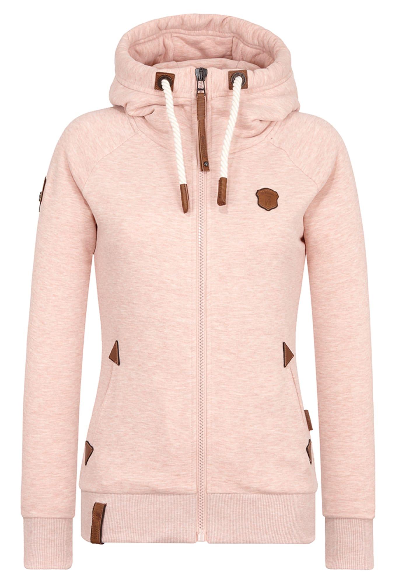 Mikina s kapucí Blonder Engel pastelově růžová Naketano