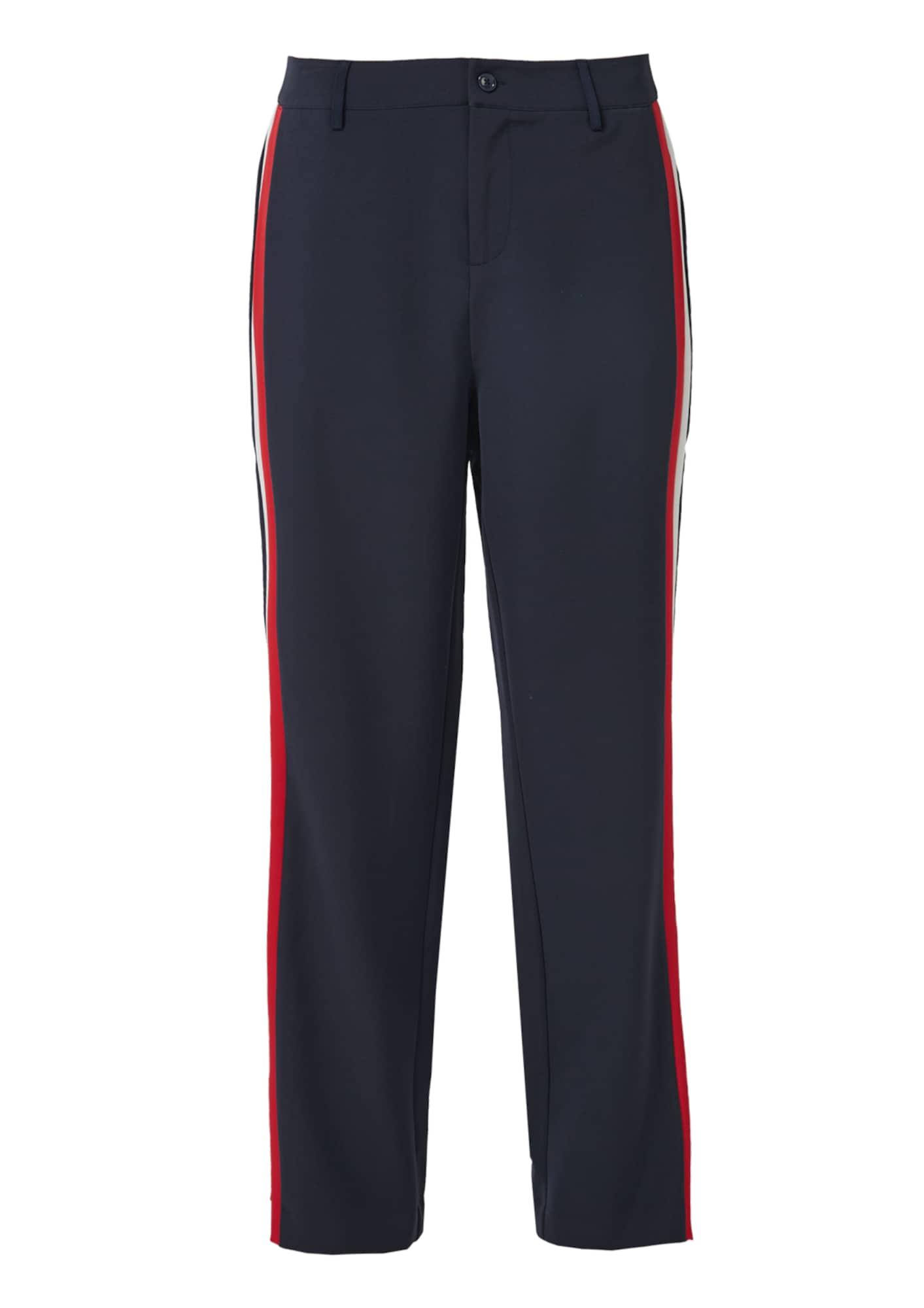 Kalhoty modrá noční modrá světle červená bílá S.Oliver RED LABEL