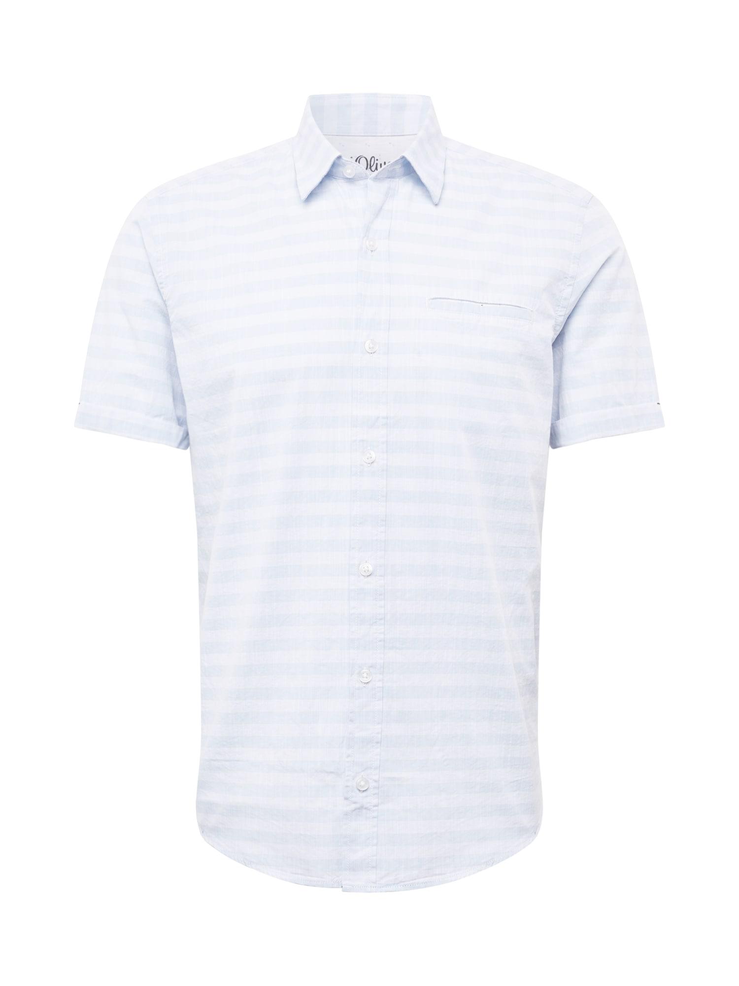 Košile modrá bílá S.Oliver RED LABEL