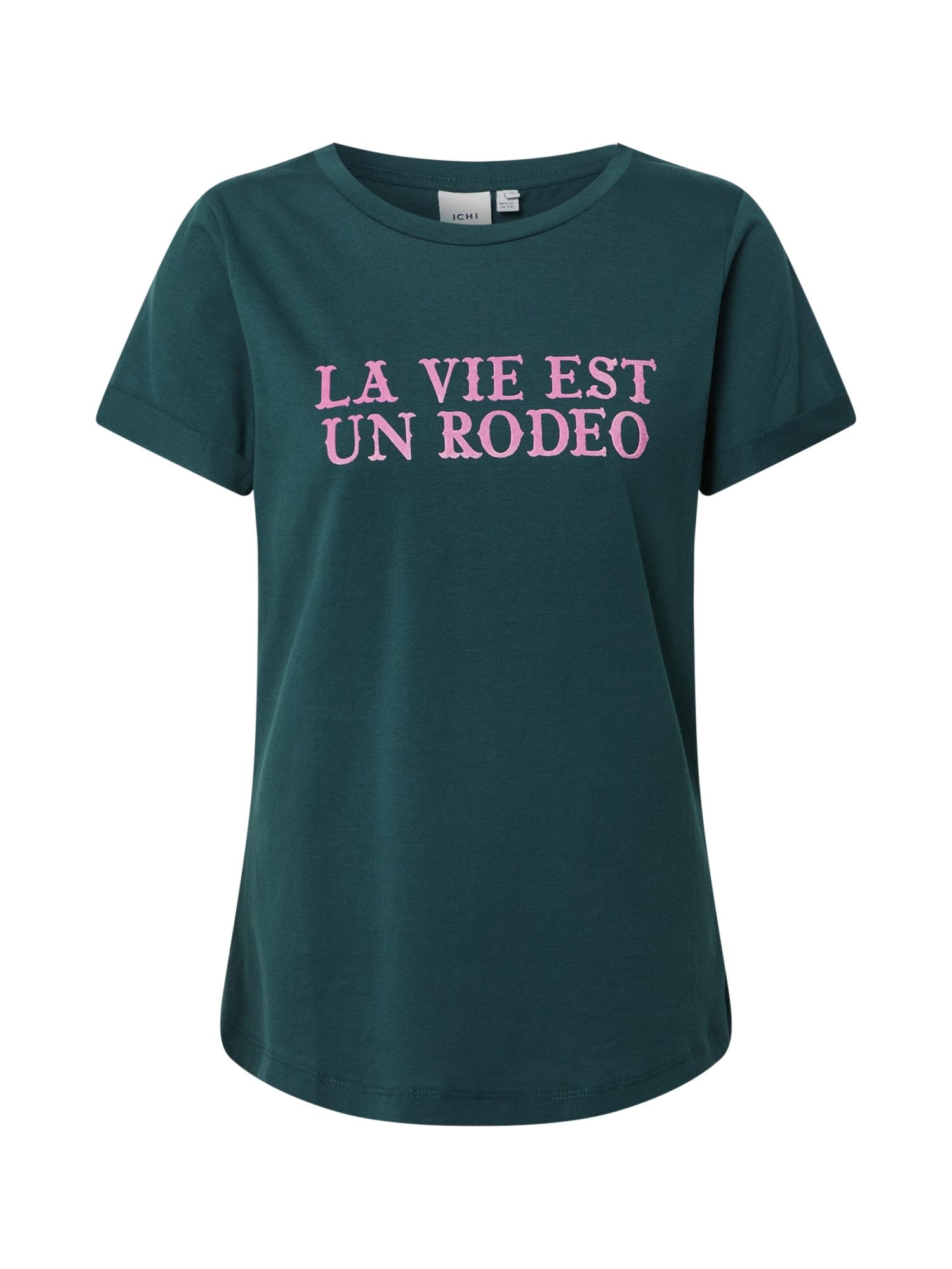 ICHI Marškinėliai benzino spalva / rožinė