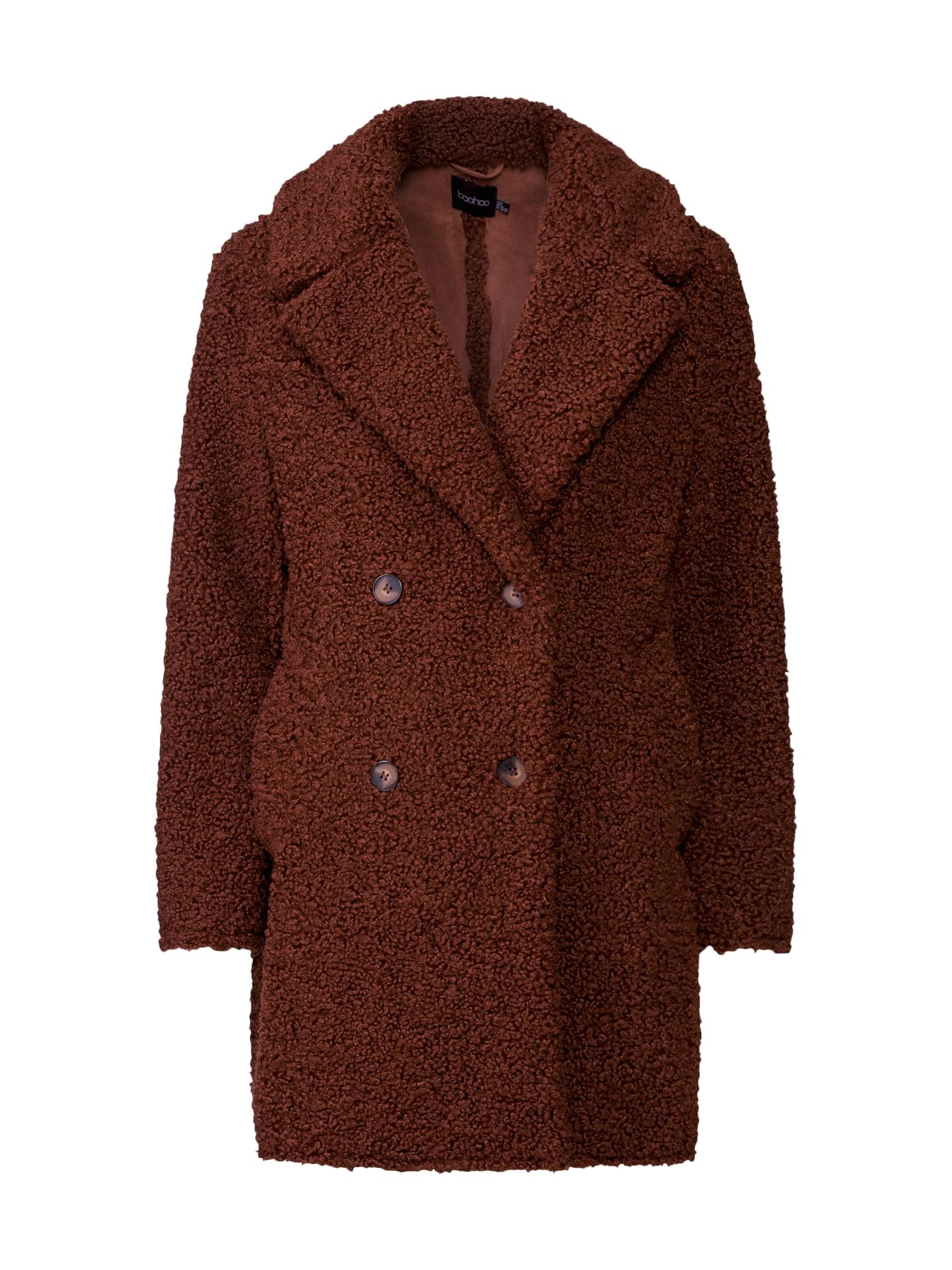 Boohoo Rudeninis-žieminis paltas ruda