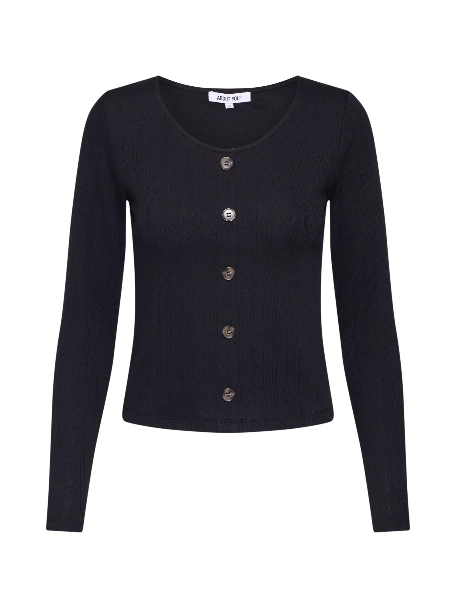 ABOUT YOU Marškinėliai 'Ginny' juoda