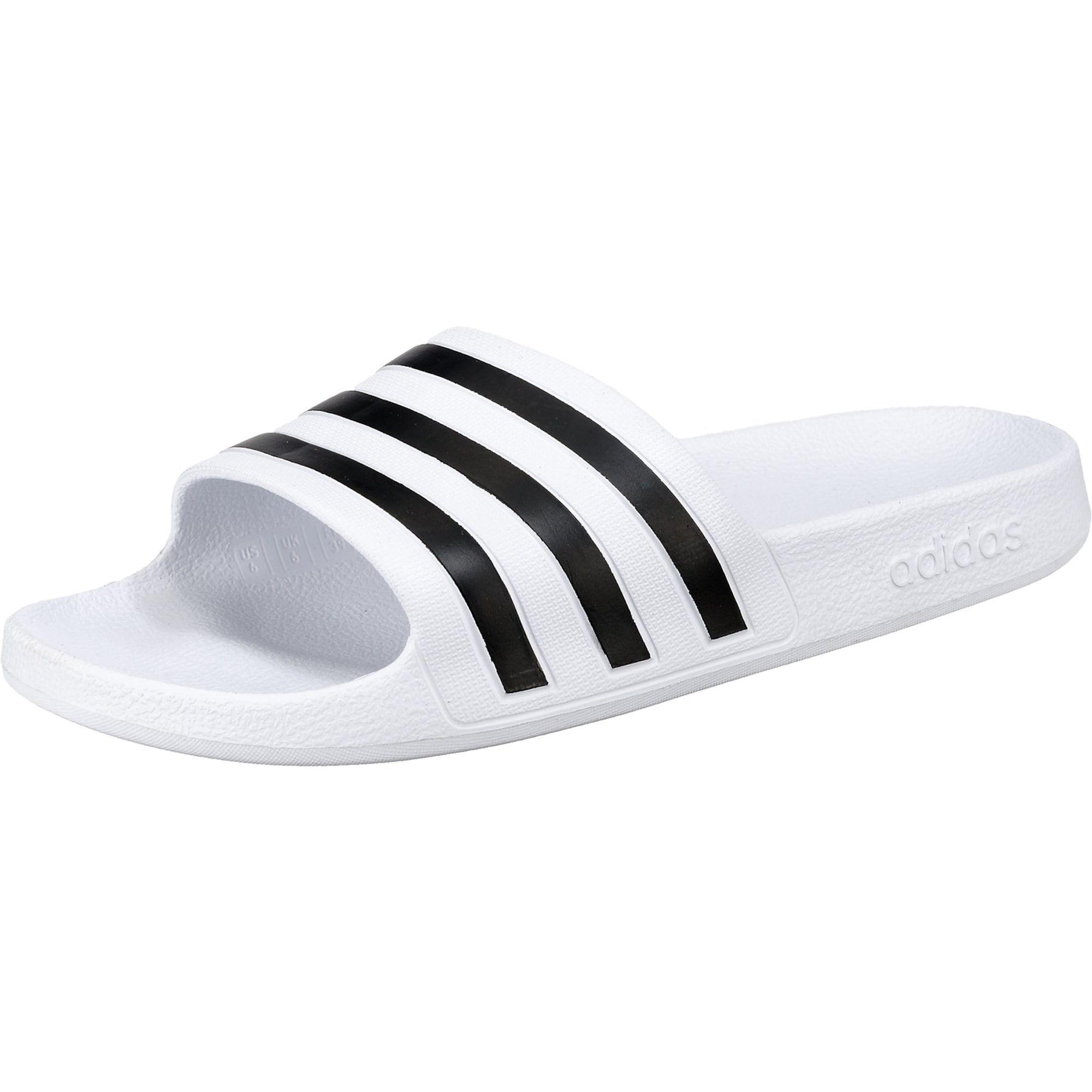 ADIDAS PERFORMANCE Sandalai / maudymosi batai 'Adilette Aqua' balta / juoda
