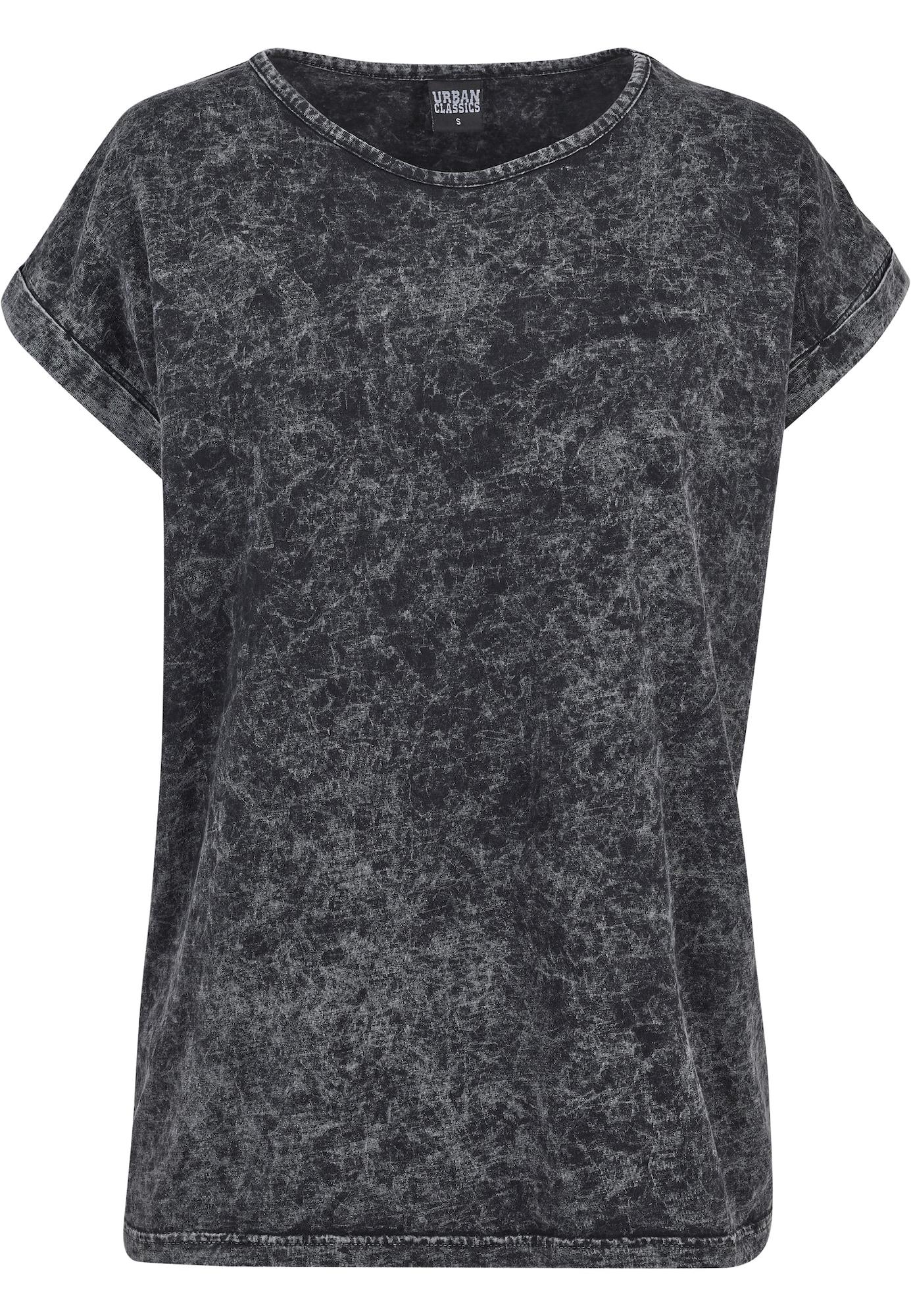 Urban Classics Curvy Marškinėliai tamsiai pilka / juoda