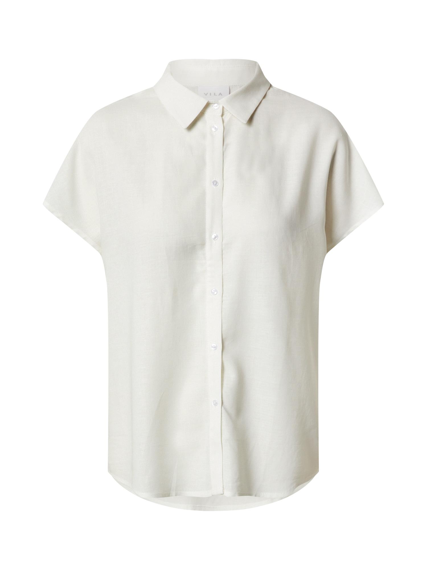 VILA Marškinėliai 'VILALINA' balkšva
